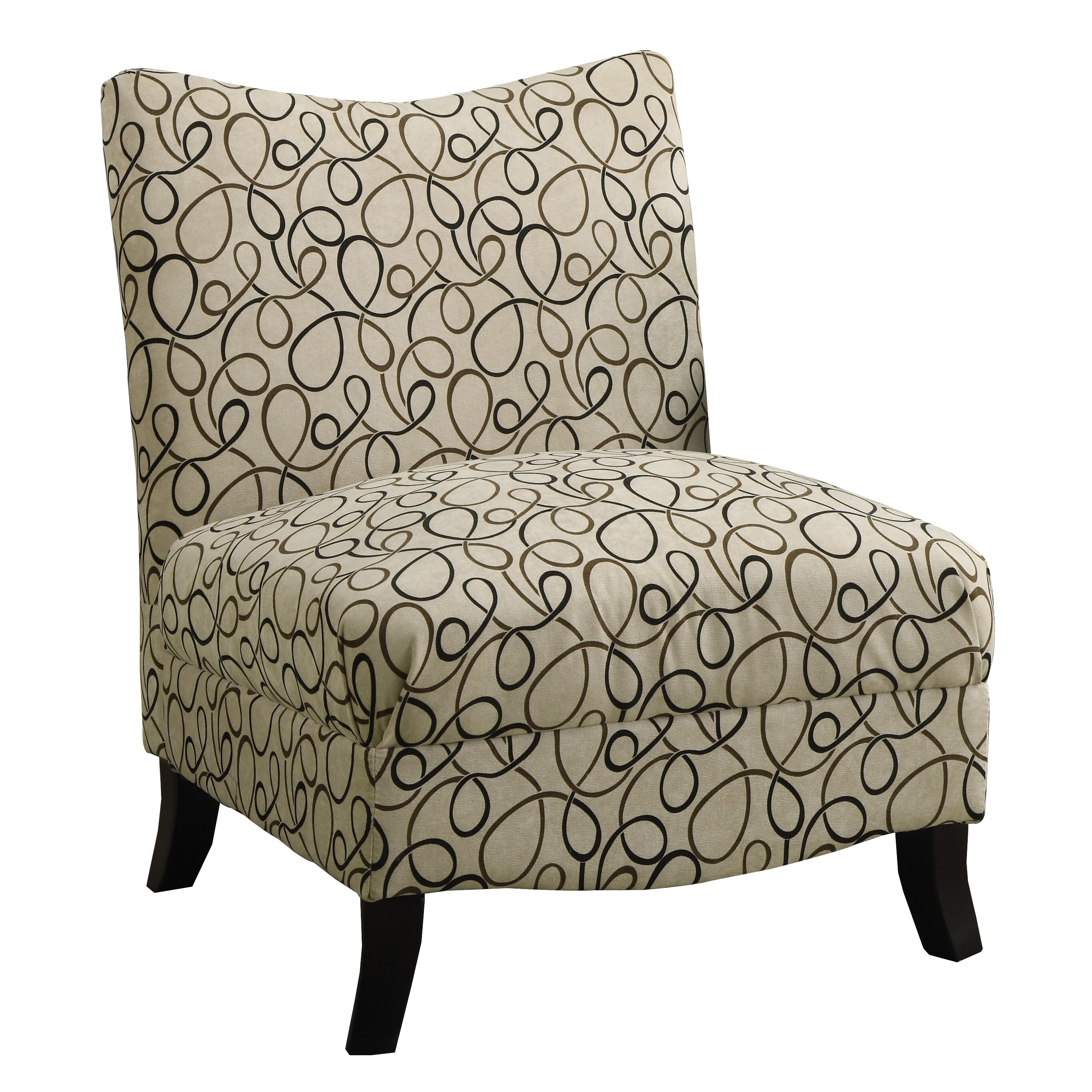 Monarch Specialties Inc Swirl Fabric Slipper Chair Reviews Wayfair