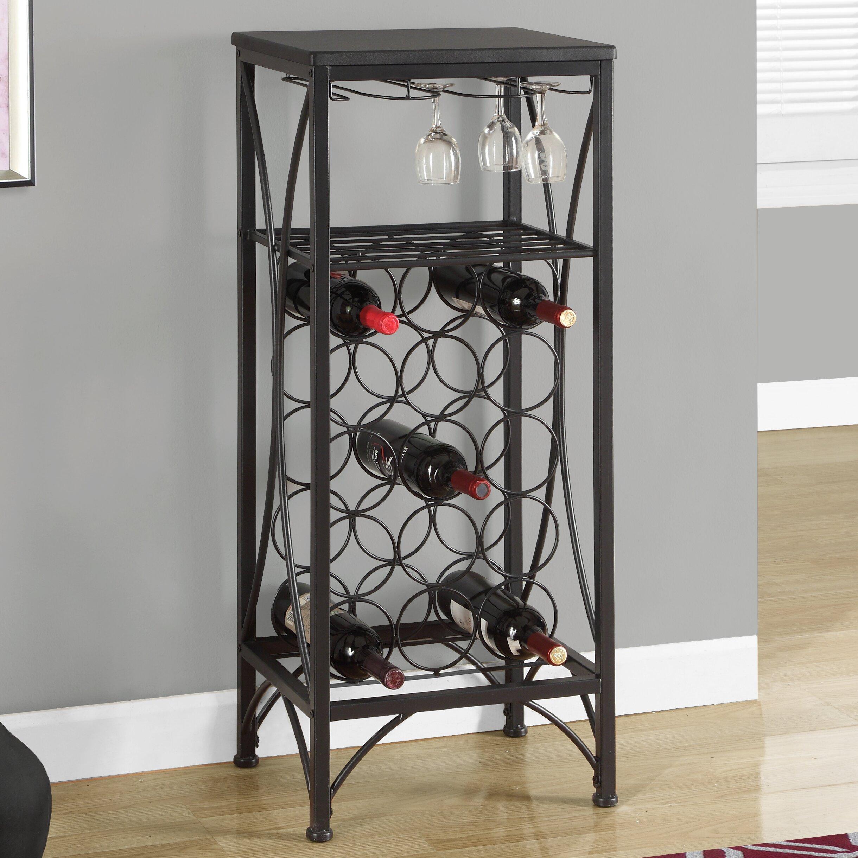 Monarch Specialties Inc 15 Bottle Floor Wine Rack