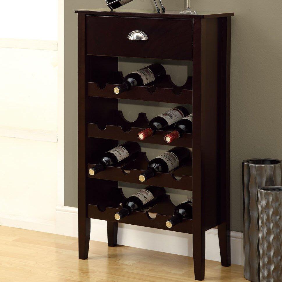 Monarch Specialties Inc 16 Bottle Floor Wine Rack