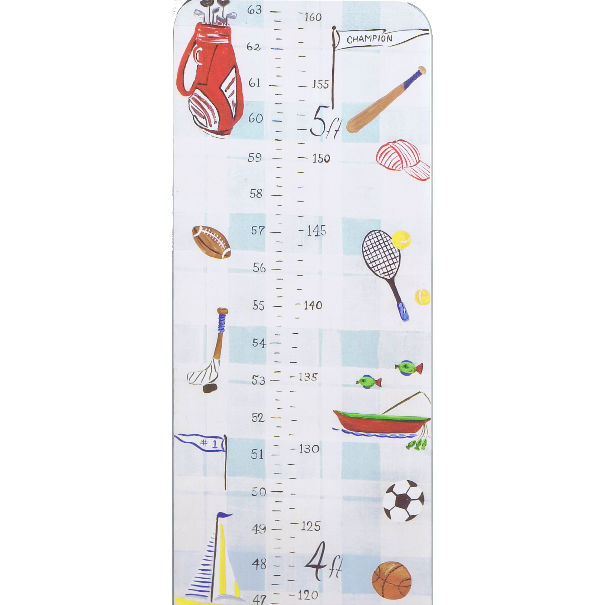 Stupell industries the kids room sports growth chart wayfair for Growth chart for kids room
