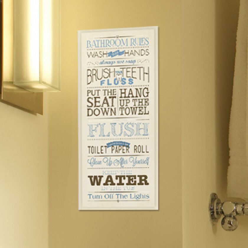 Outstanding Bathroom Plaques Wall Decor Photo - Wall Art Design ...