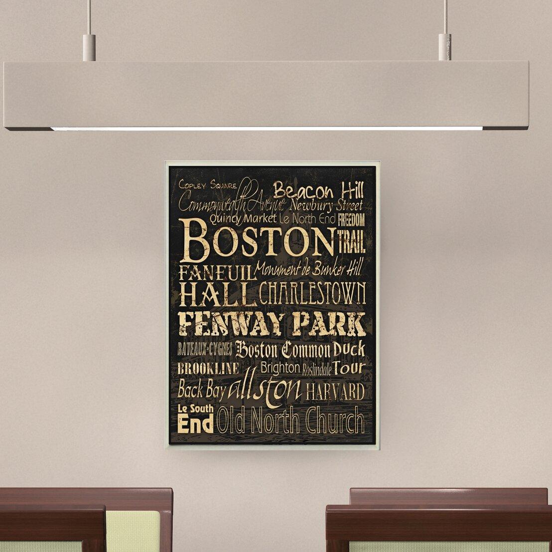 Stupell Industries Boston Textual Art Wall Plaque