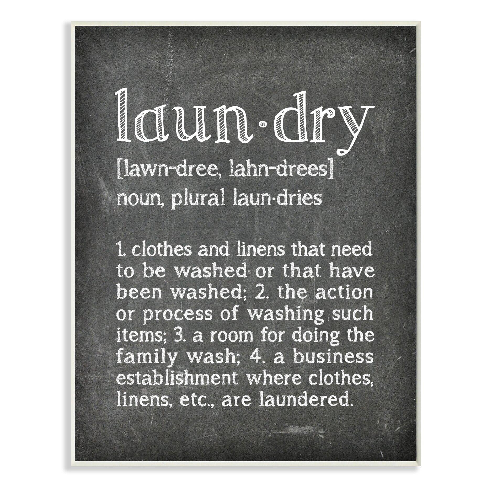 Stupell industries 39 laundry definition chalk look 39 textual - Plaque de finition ...