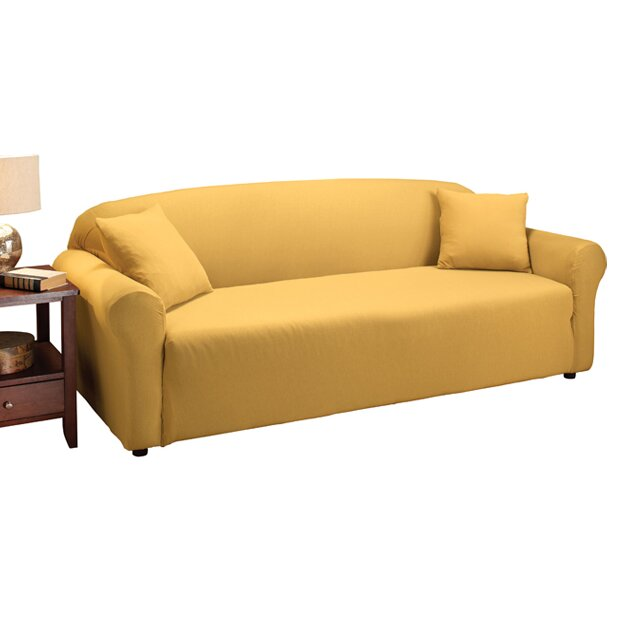 madison home stretch jersey sofa slipcover reviews wayfair. Black Bedroom Furniture Sets. Home Design Ideas