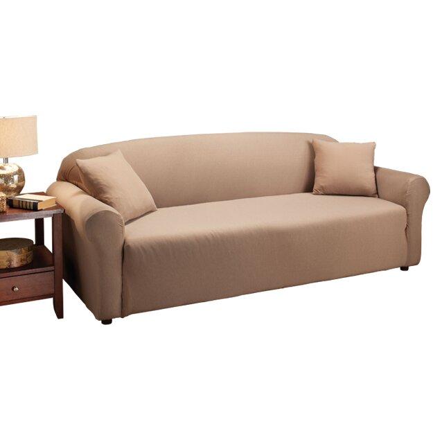 Madison Home Stretch Jersey Sofa Slipcover Amp Reviews Wayfair