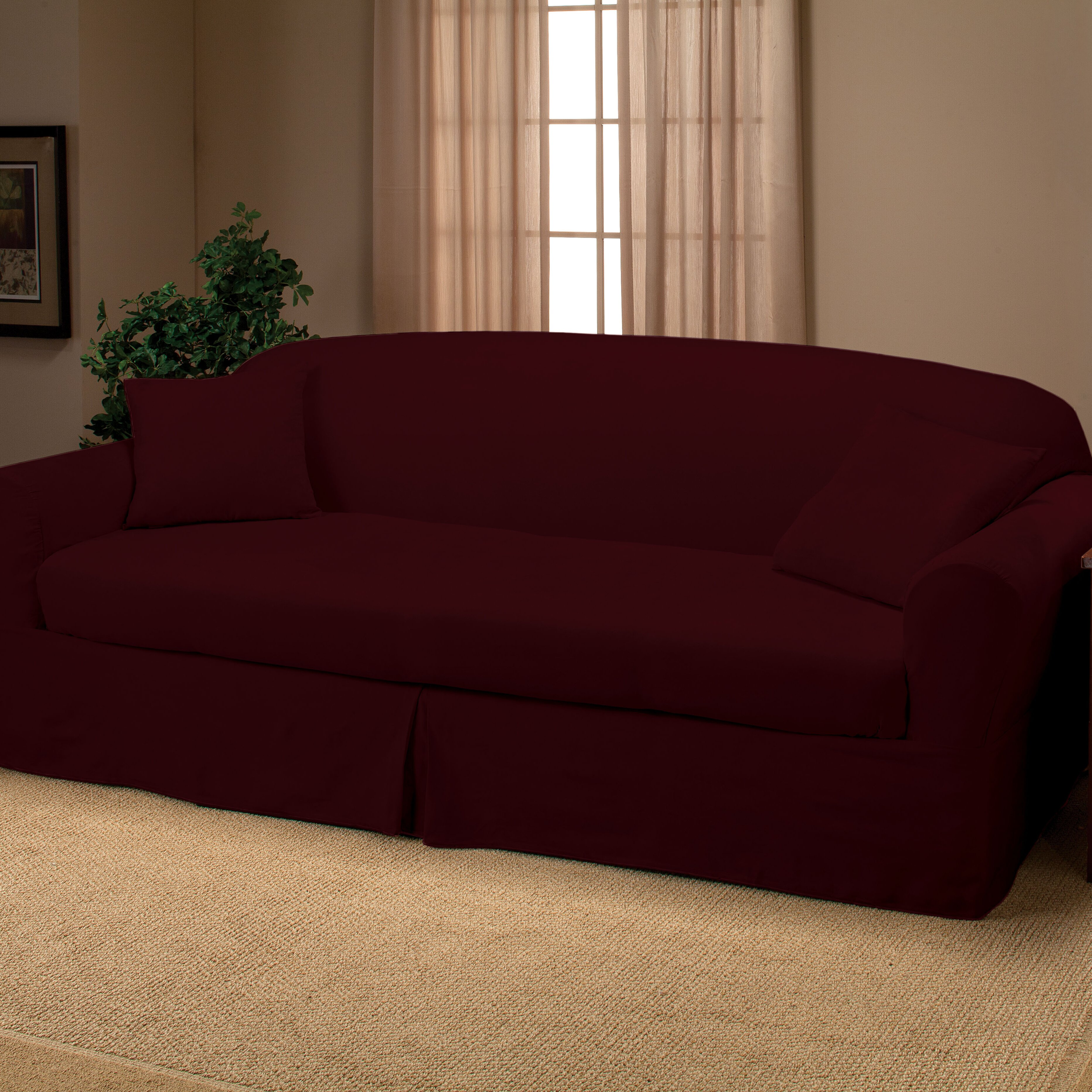 Madison home microsuede 2 piece sofa slipcover reviews for 2 piece sectional sofa slipcover