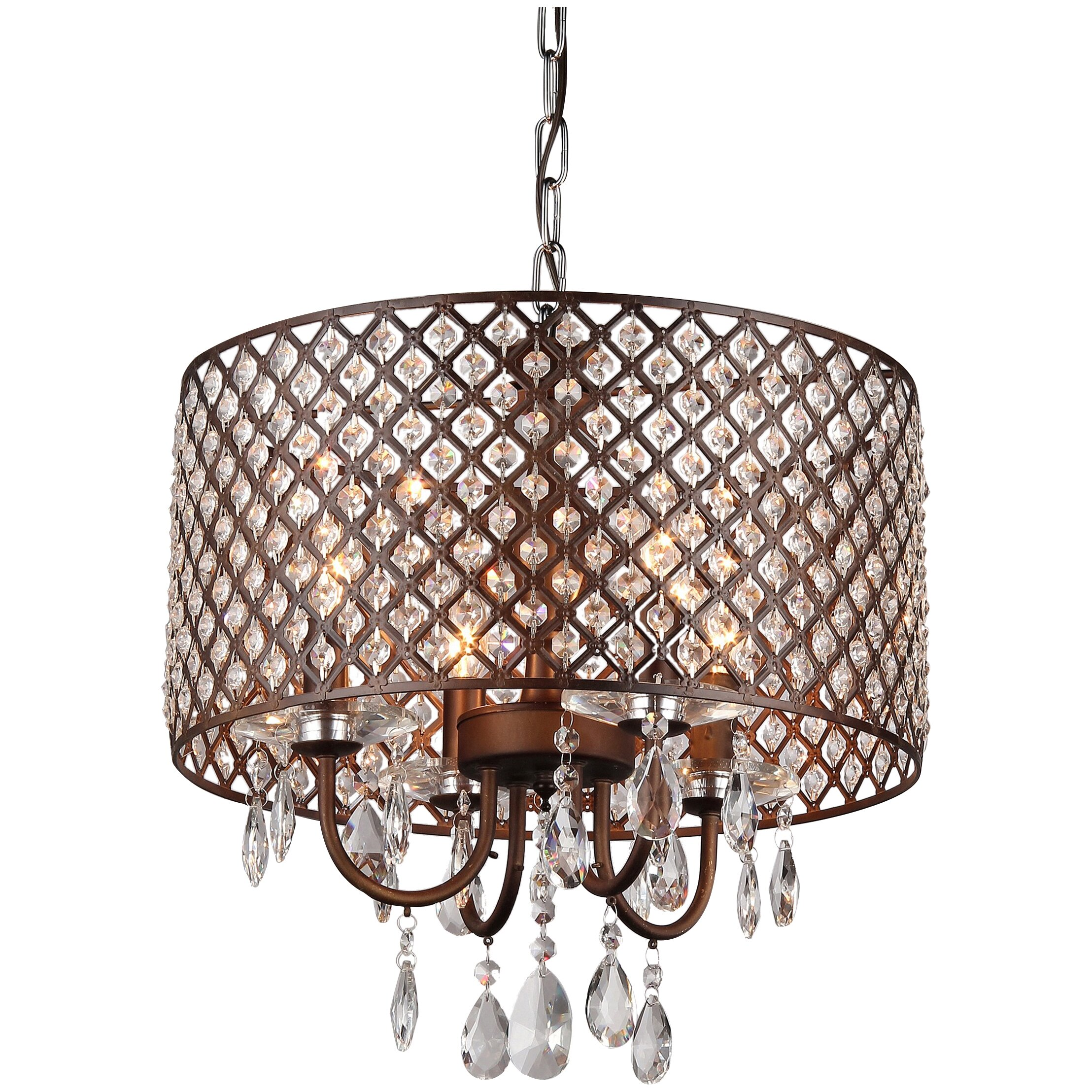 Warehouse Of Tiffany Alexia 4 Light Crystal Chandelier