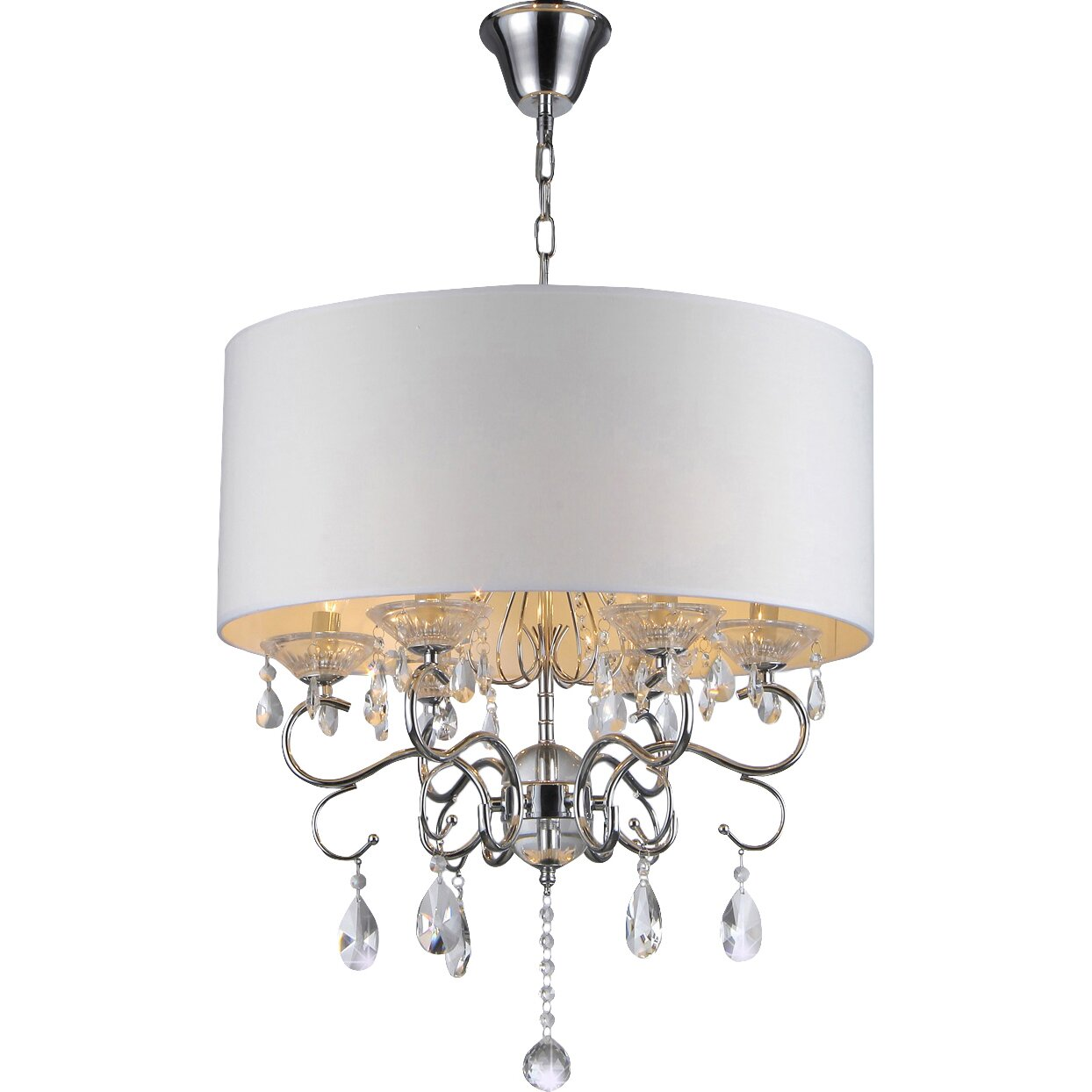 Warehouse Of Tiffany 6 Light Drum Chandelier & Reviews