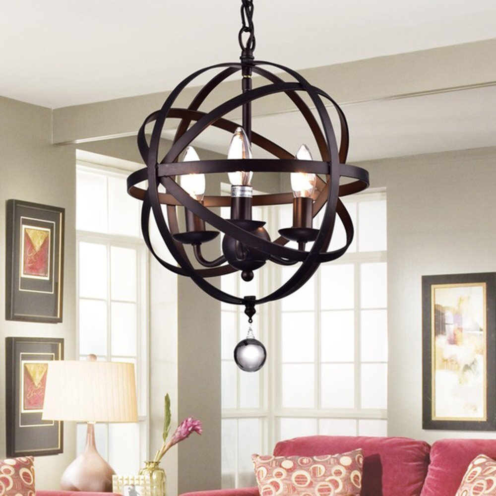 Warehouse Of Tiffany Riza 3 Light Candle-Style Chandelier