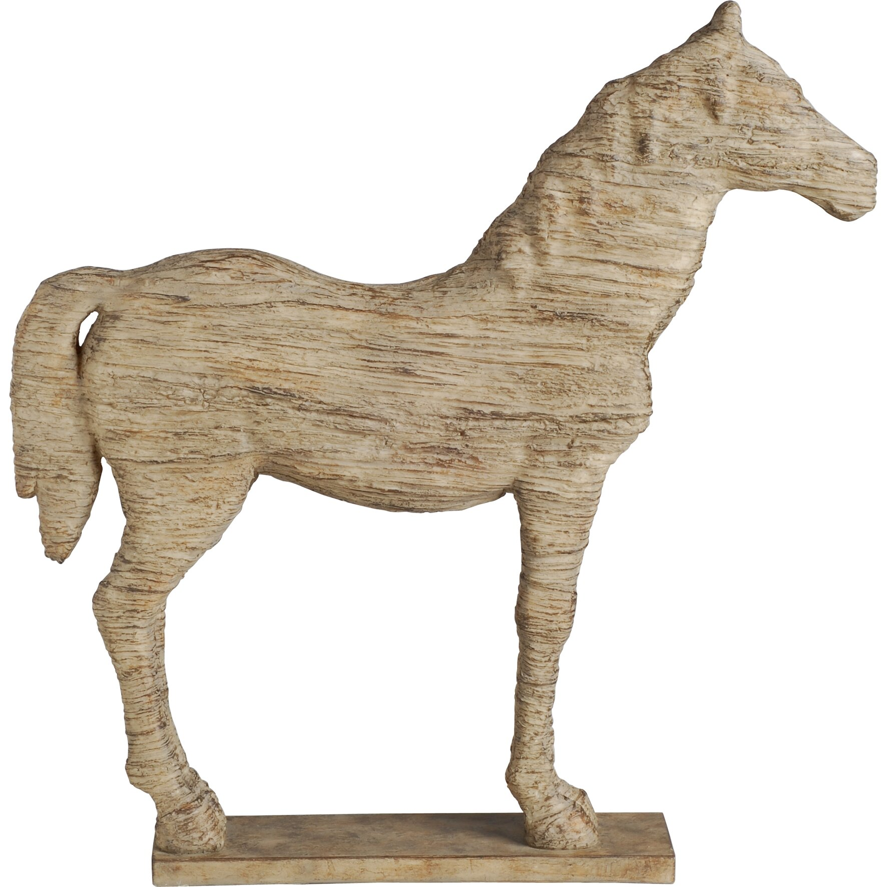 three posts wesley horse table decor statue reviews wayfair. Black Bedroom Furniture Sets. Home Design Ideas