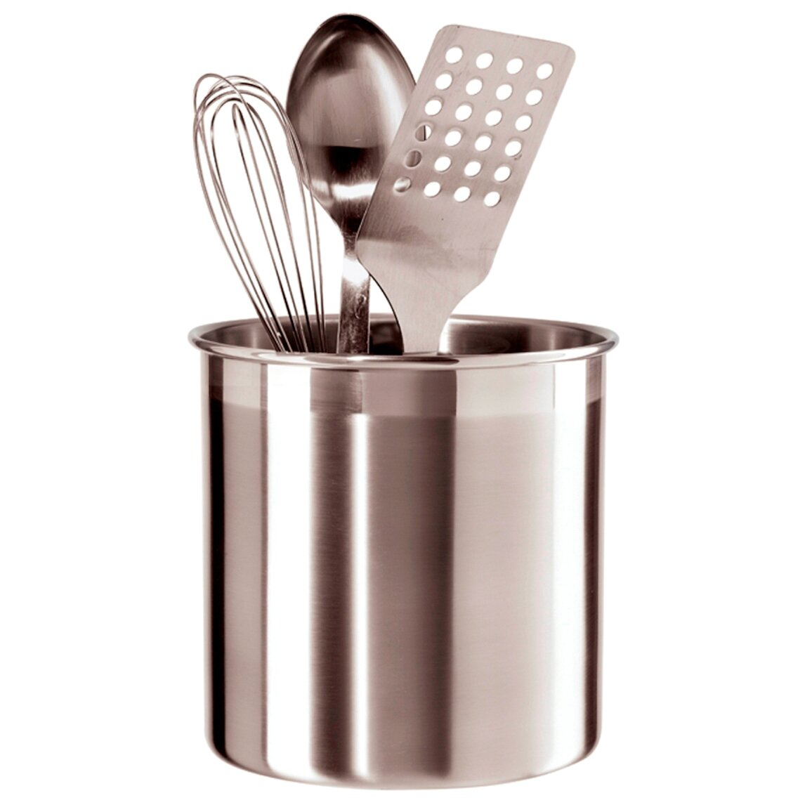 Oggi jumbo stainless steel utensil holder reviews wayfair for Kitchen design utensils