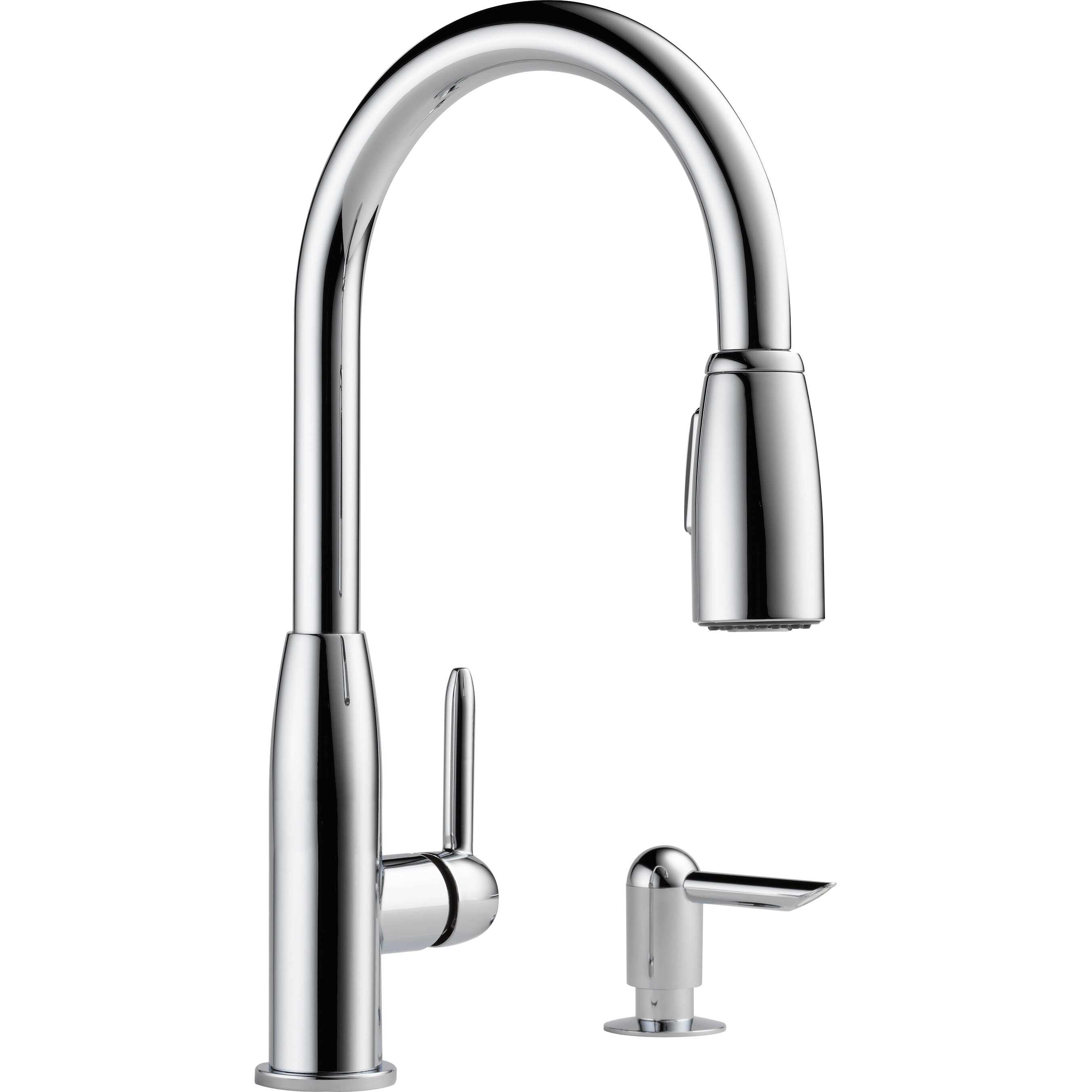 peerless faucets single handle widespread kitchen faucet