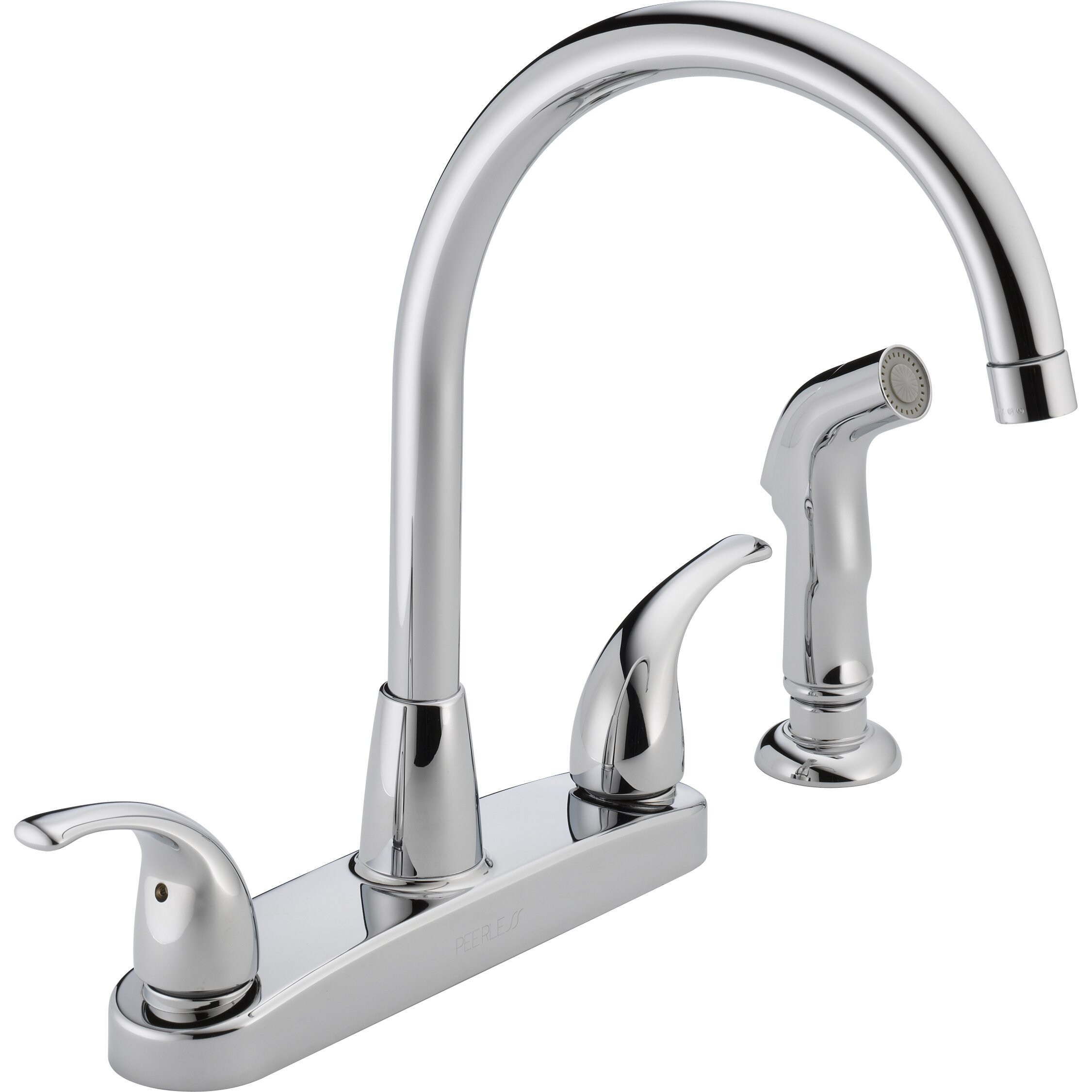 two handle kitchen faucet with sprayer peerless faucets two handle centerset kitchen faucet with 27586