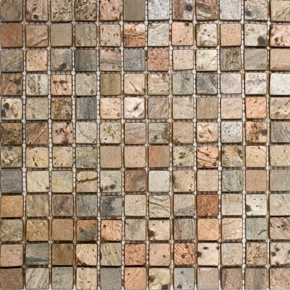 Epoch 1 Quot X 1 Quot Slate Mosaic Tile In Copper Amp Reviews Wayfair