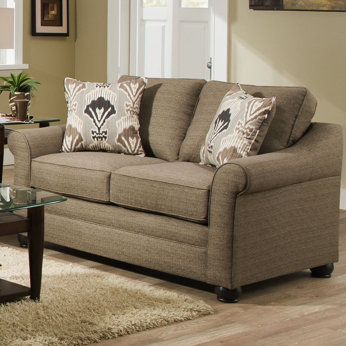Simmons Upholstery Seguin Driftwood Loveseat Wayfair