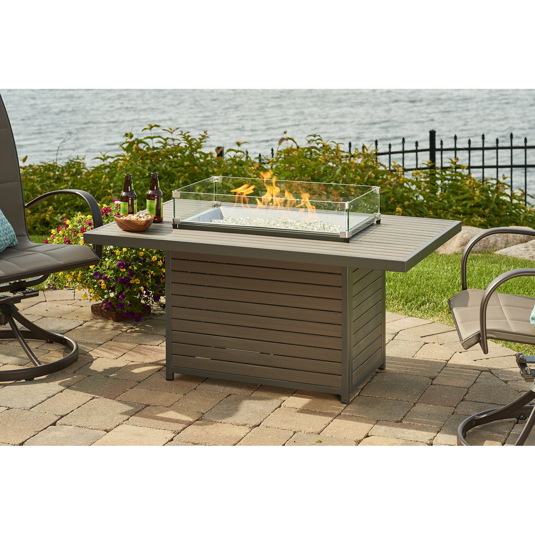 The Outdoor Greatroom Company Brooks Fire Pit Table Wayfair