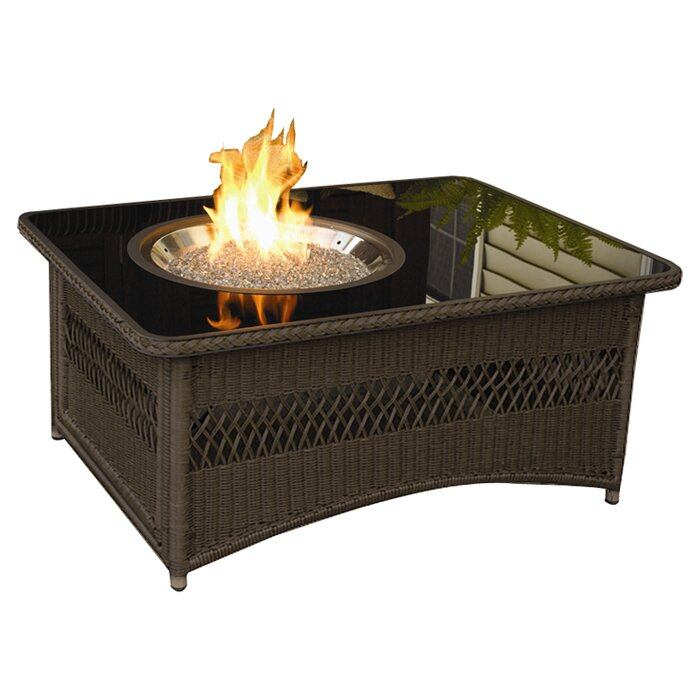 Patio Coffee Table With Fire Pit: The Outdoor GreatRoom Company Naples Coffee Table With