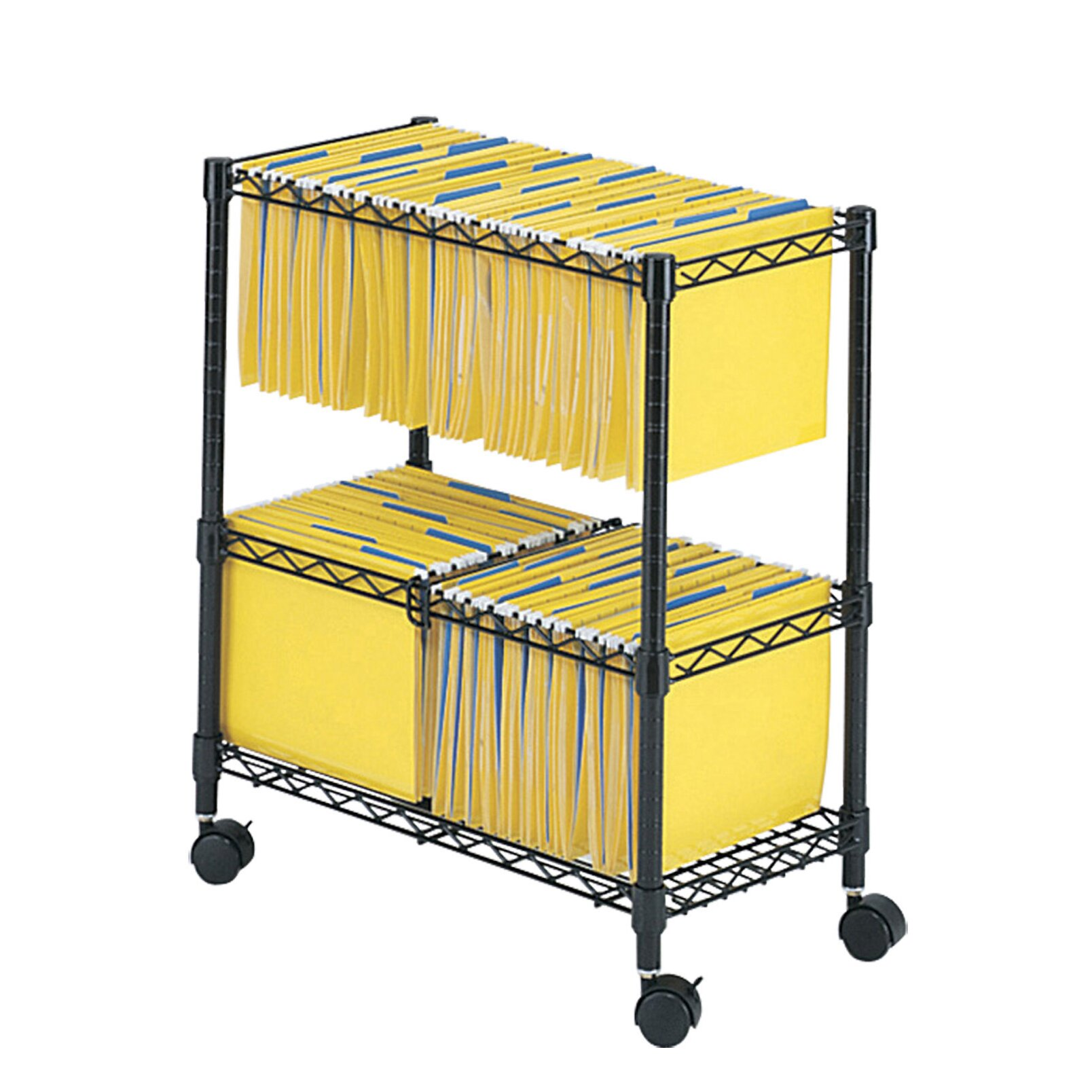 Safco Products Two Tier Rolling File Cart Amp Reviews Wayfair