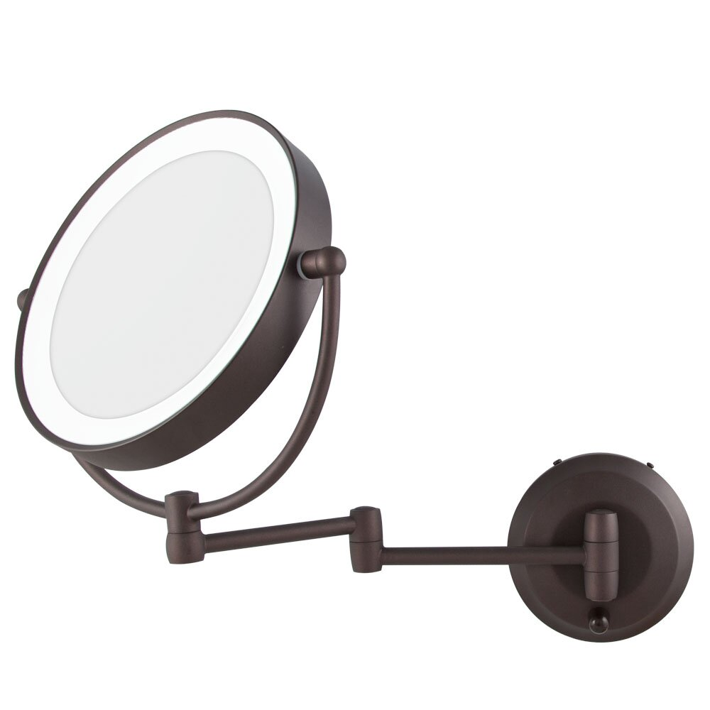 Zadro led lighted 1x 10x magnification wall mount mirror for Wall mounted mirror