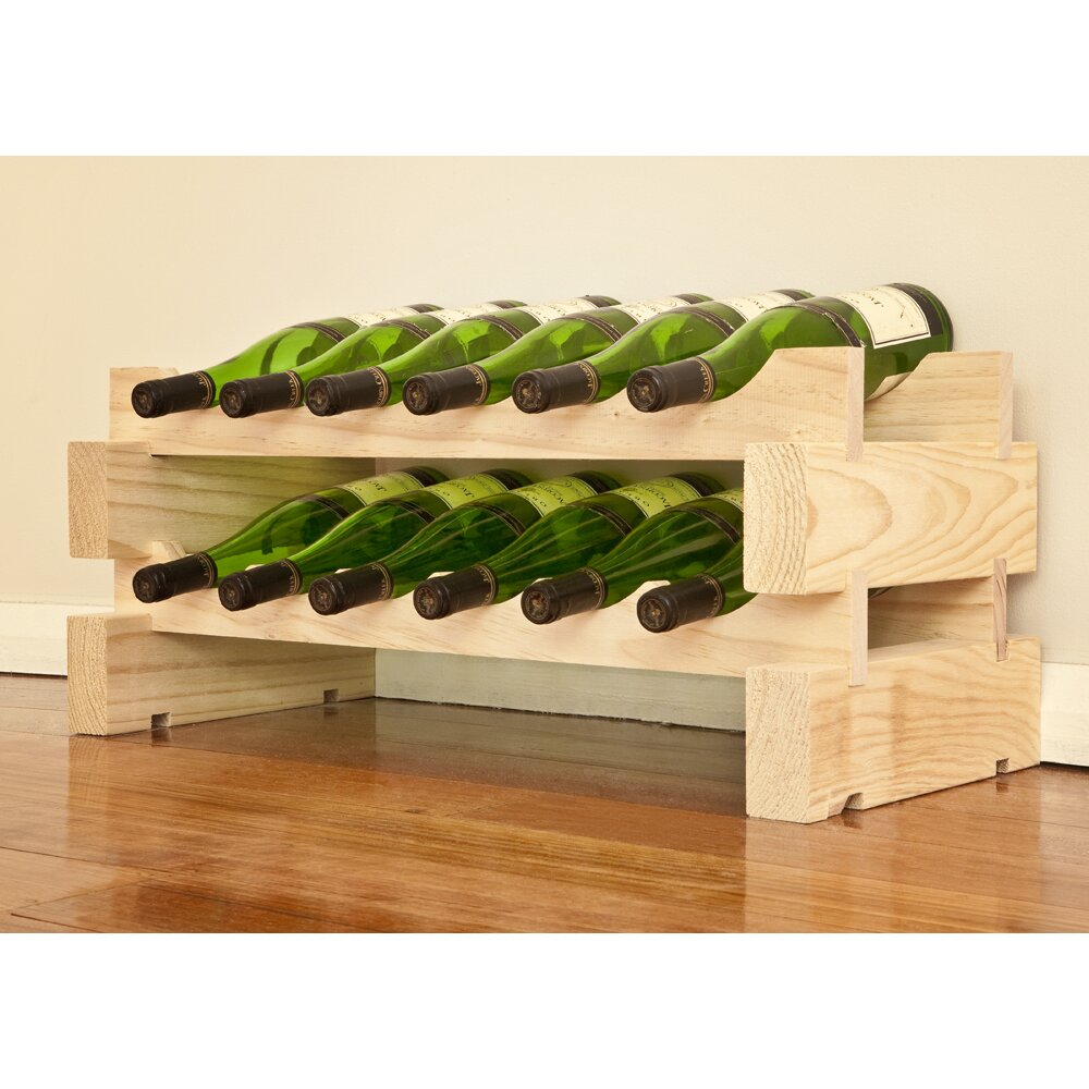 Vinotemp 12 bottle floor wine rack wayfair for Floor wine rack