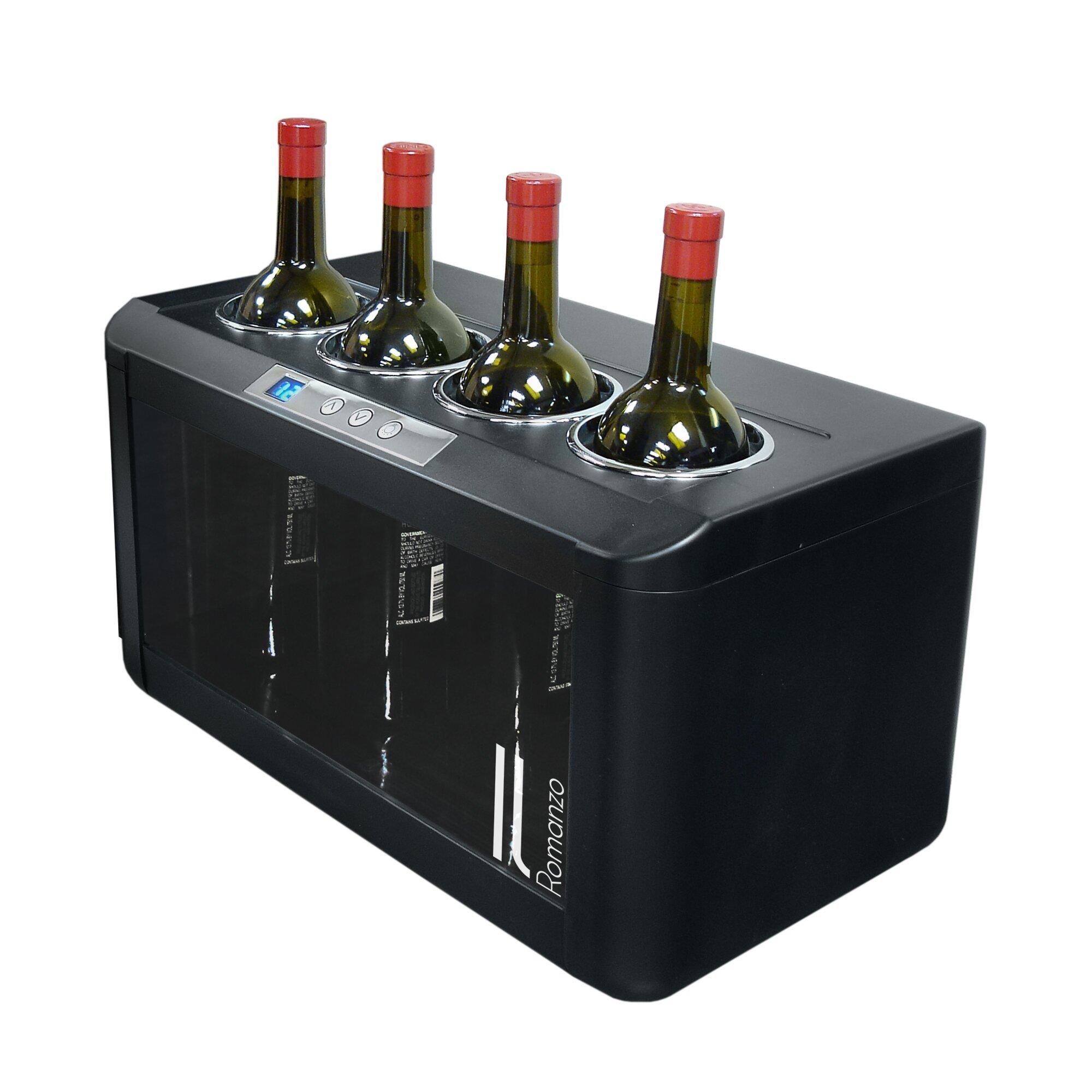 Vinotemp Il Romanzo 4 Bottle Single Zone Freestanding Wine