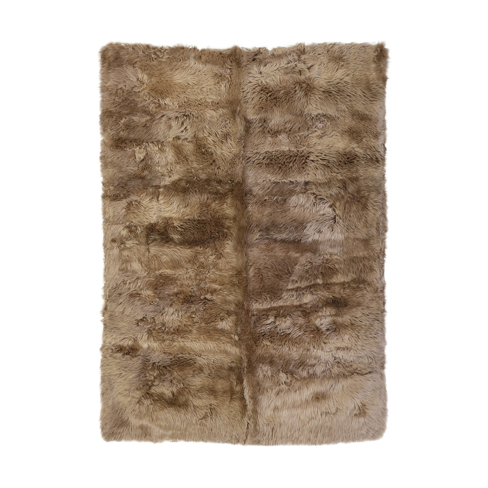 dwellstudio sheepskin longwool taupe rug wayfair