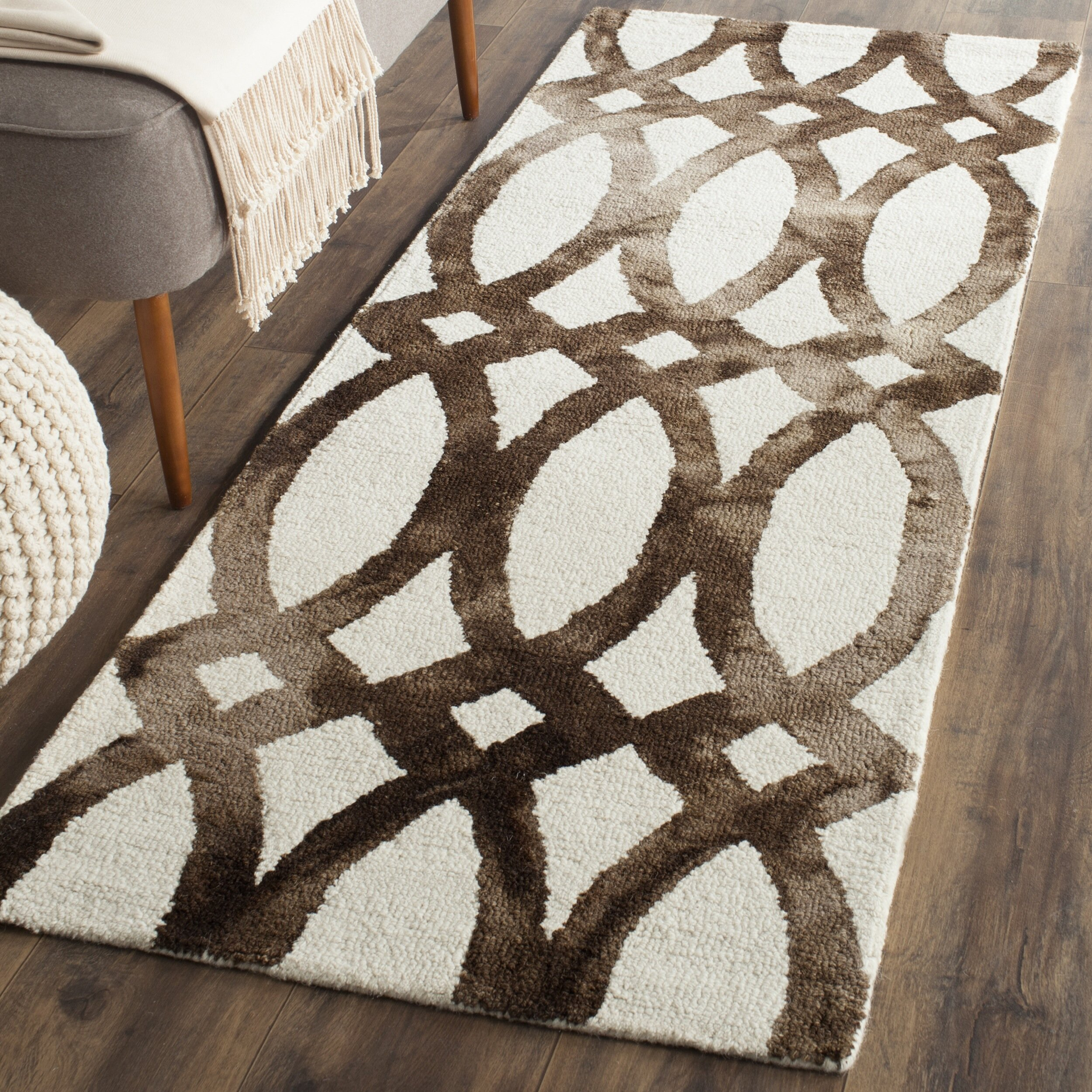 dwellstudio moscow ivory cacao area rug reviews wayfair