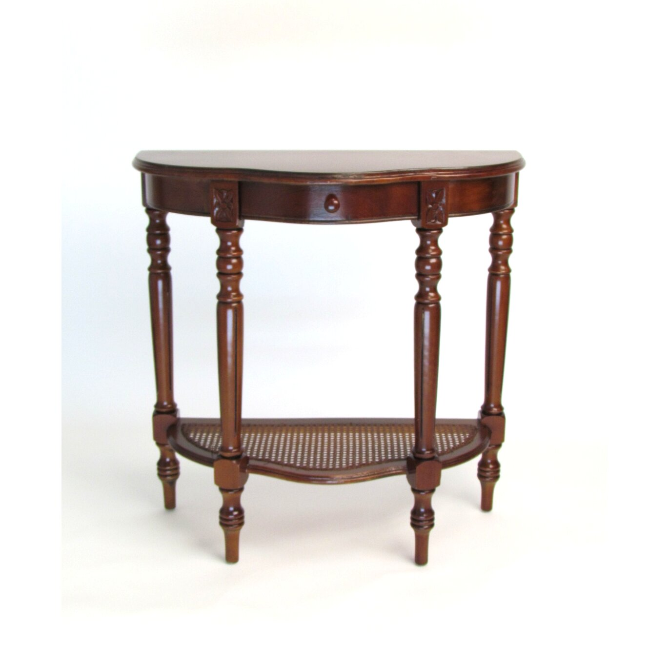 Wayborn demi lune console table reviews wayfair - Table cuisine demi lune ...