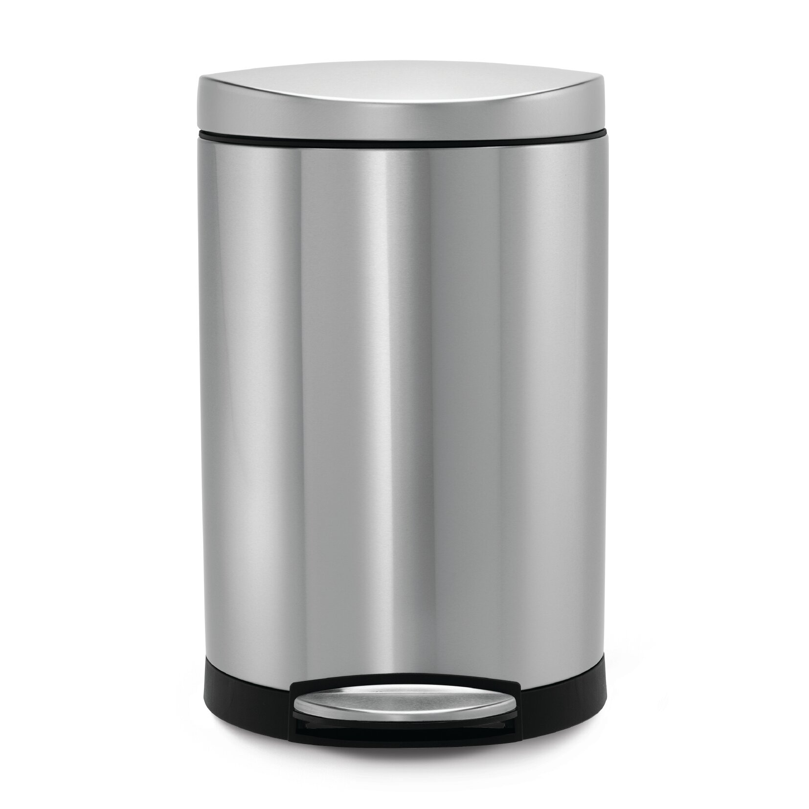 Simplehuman 2 6 gallon step on stainless steel trash can for Simplehuman trash can
