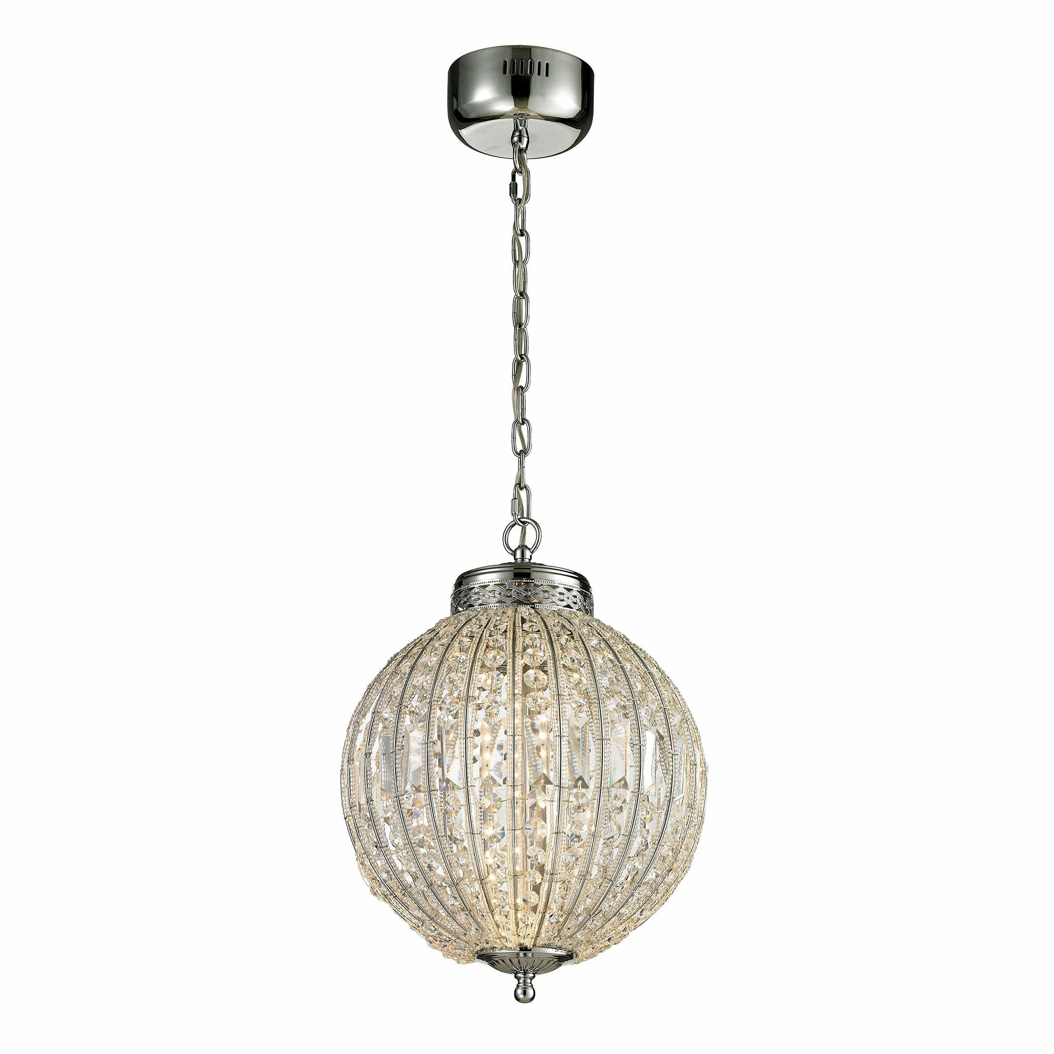 Elk lighting crystal pendant : Elk lighting crystal led integrated bulb globe pendant