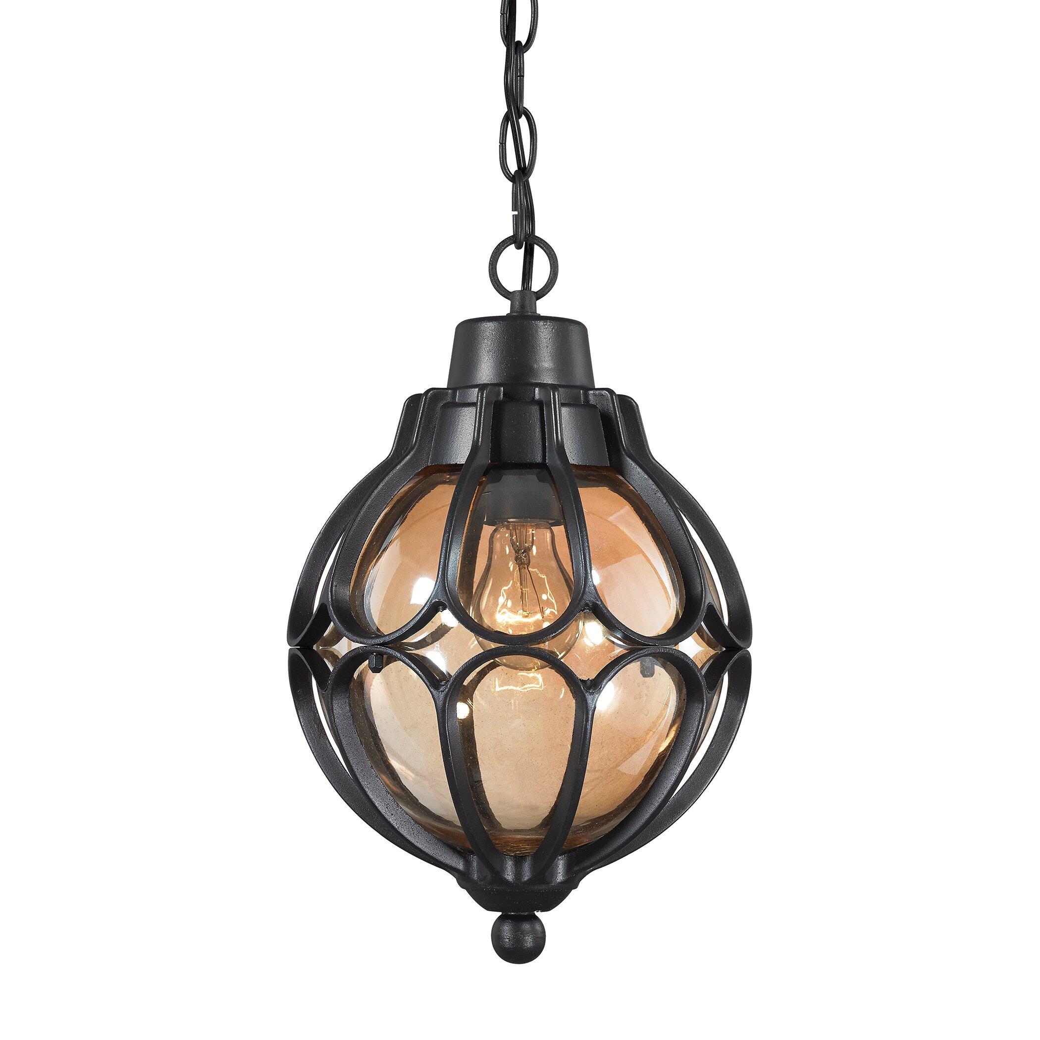 elk lighting madagascar 1 light outdoor pendant reviews