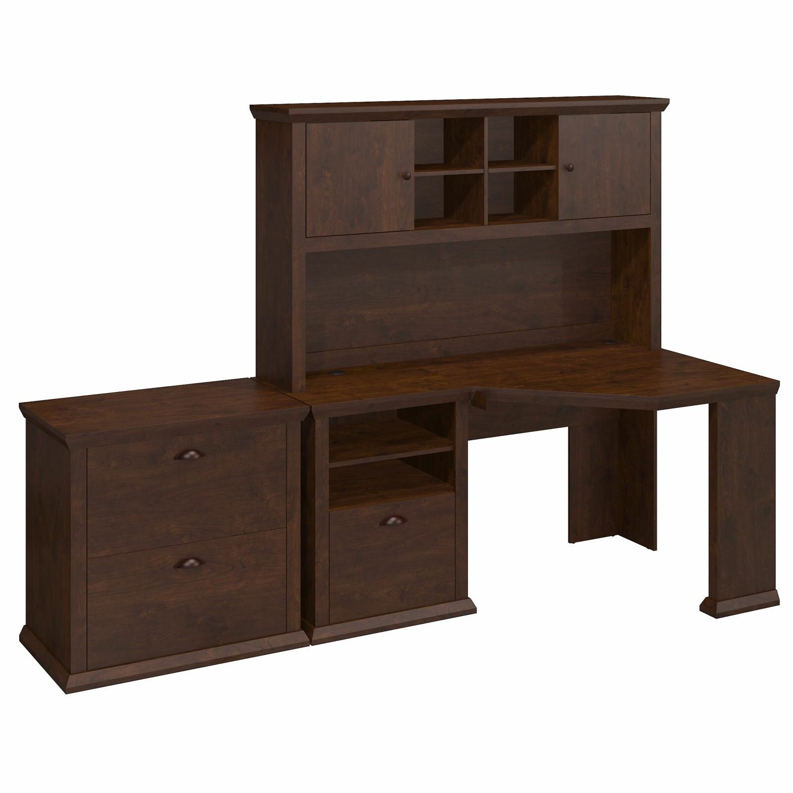Bush Furniture Yorktown Corner Desk With Hutch And Lateral