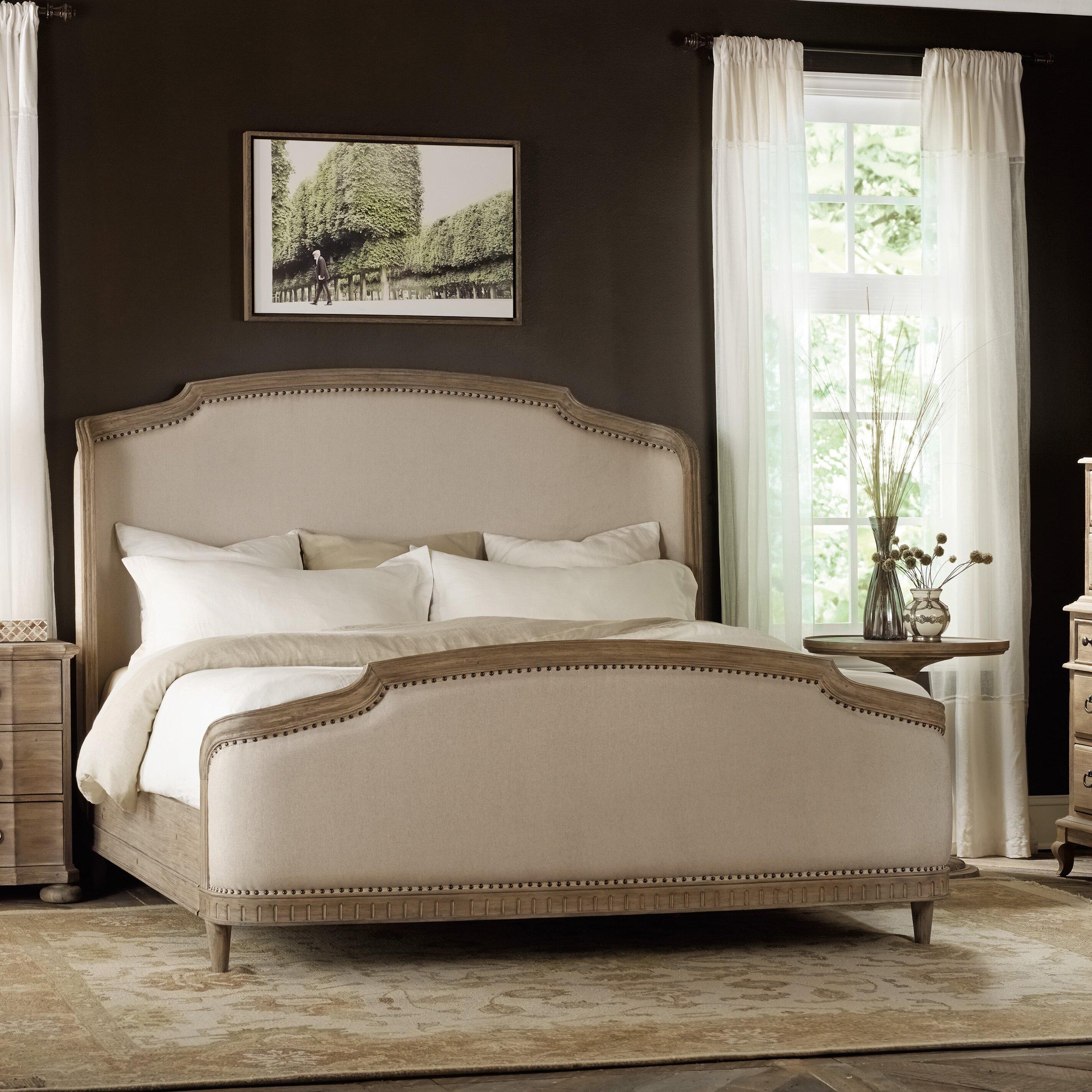 Hooker furniture corsica upholstered panel bed reviews for Panel beds for sale