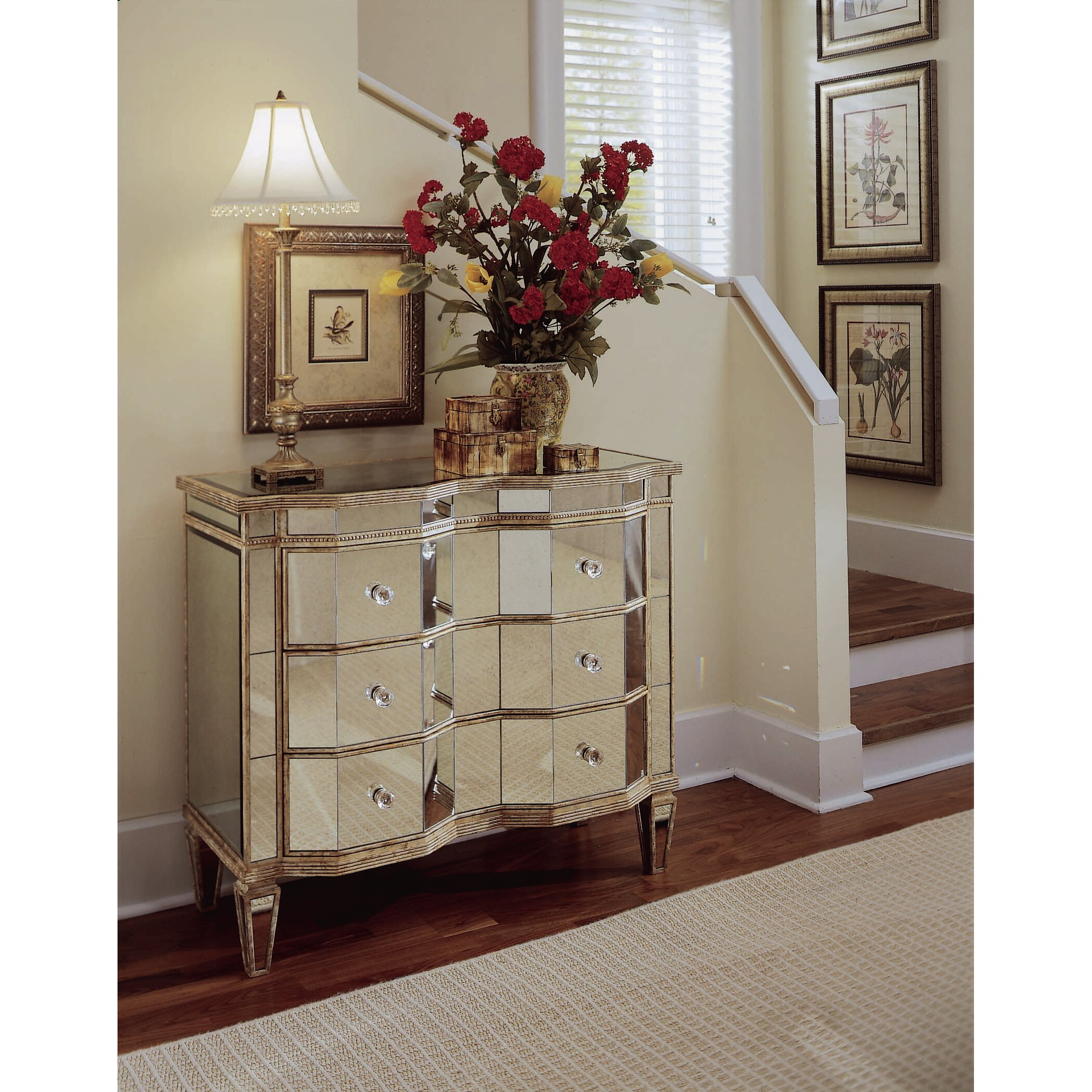 Hooker Furniture Mirrored 3 Drawer Chest & Reviews
