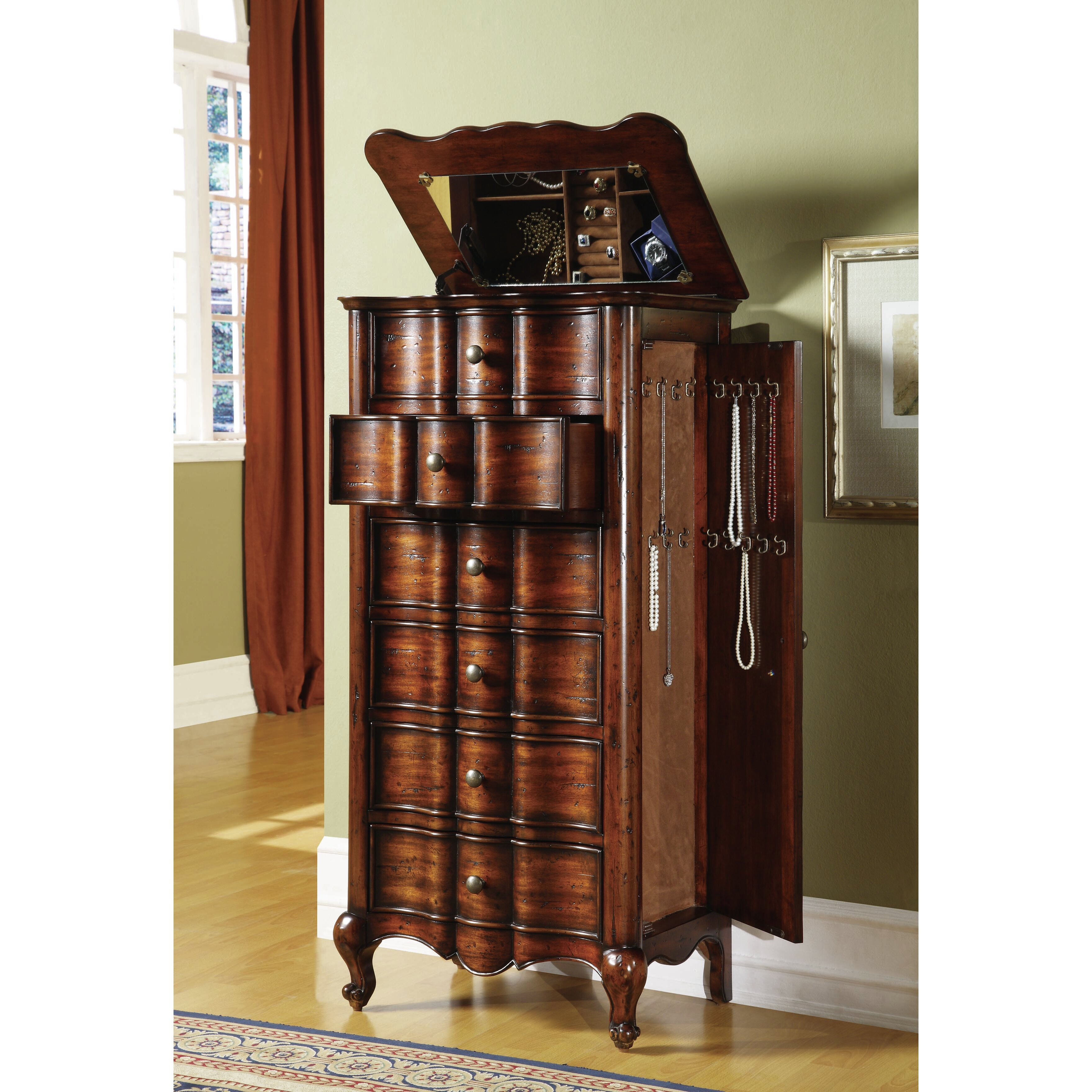 Hooker Furniture French Jewelry Armoire & Reviews | Wayfair