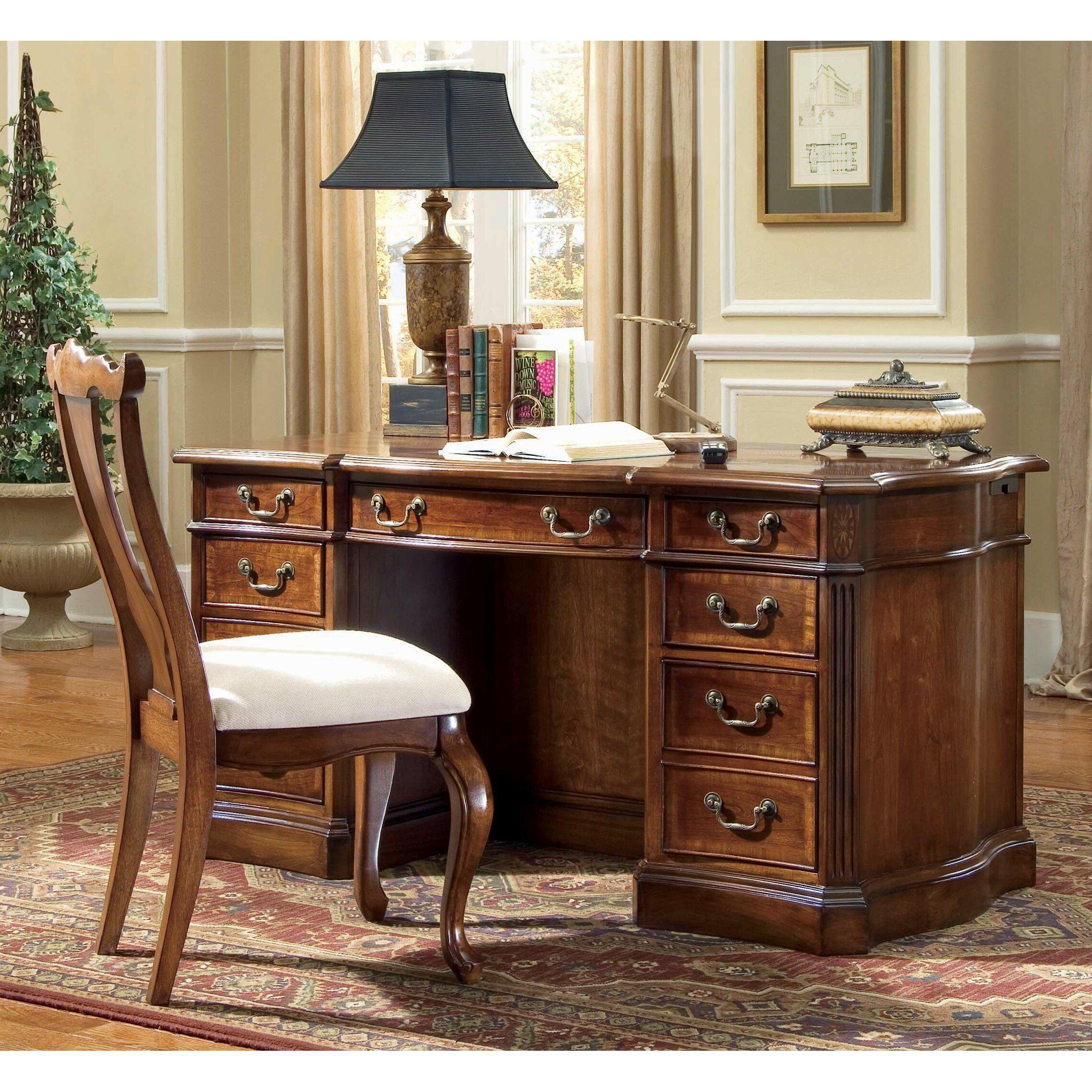 Hooker Furniture Belle Grove Executive Desk Reviews Wayfair