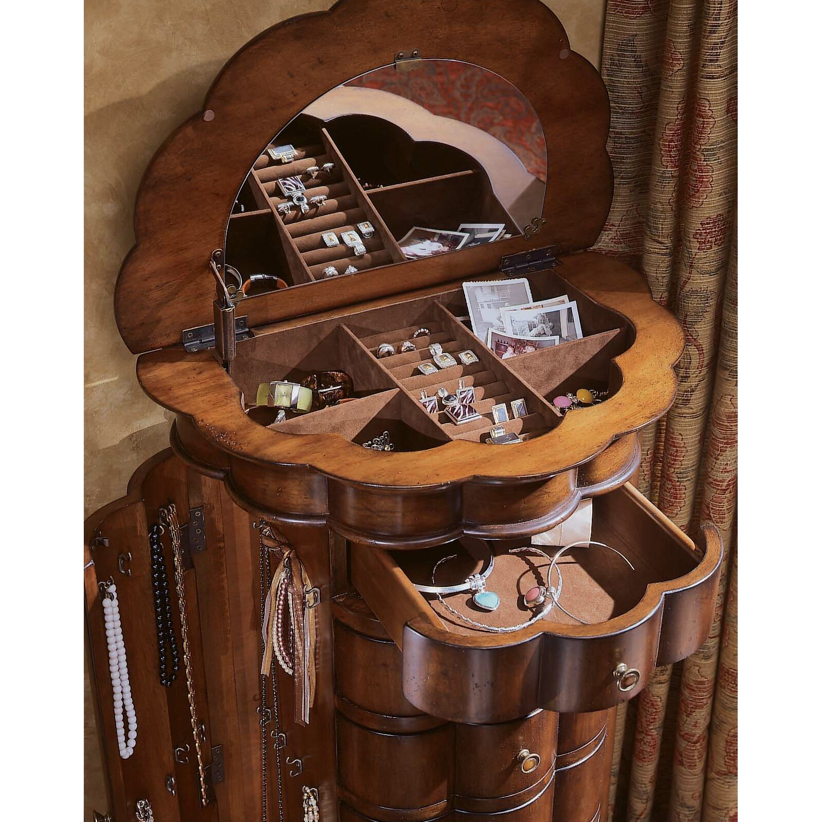 Hooker Furniture Seven Seas Jewelry Armoire with Mirror ...