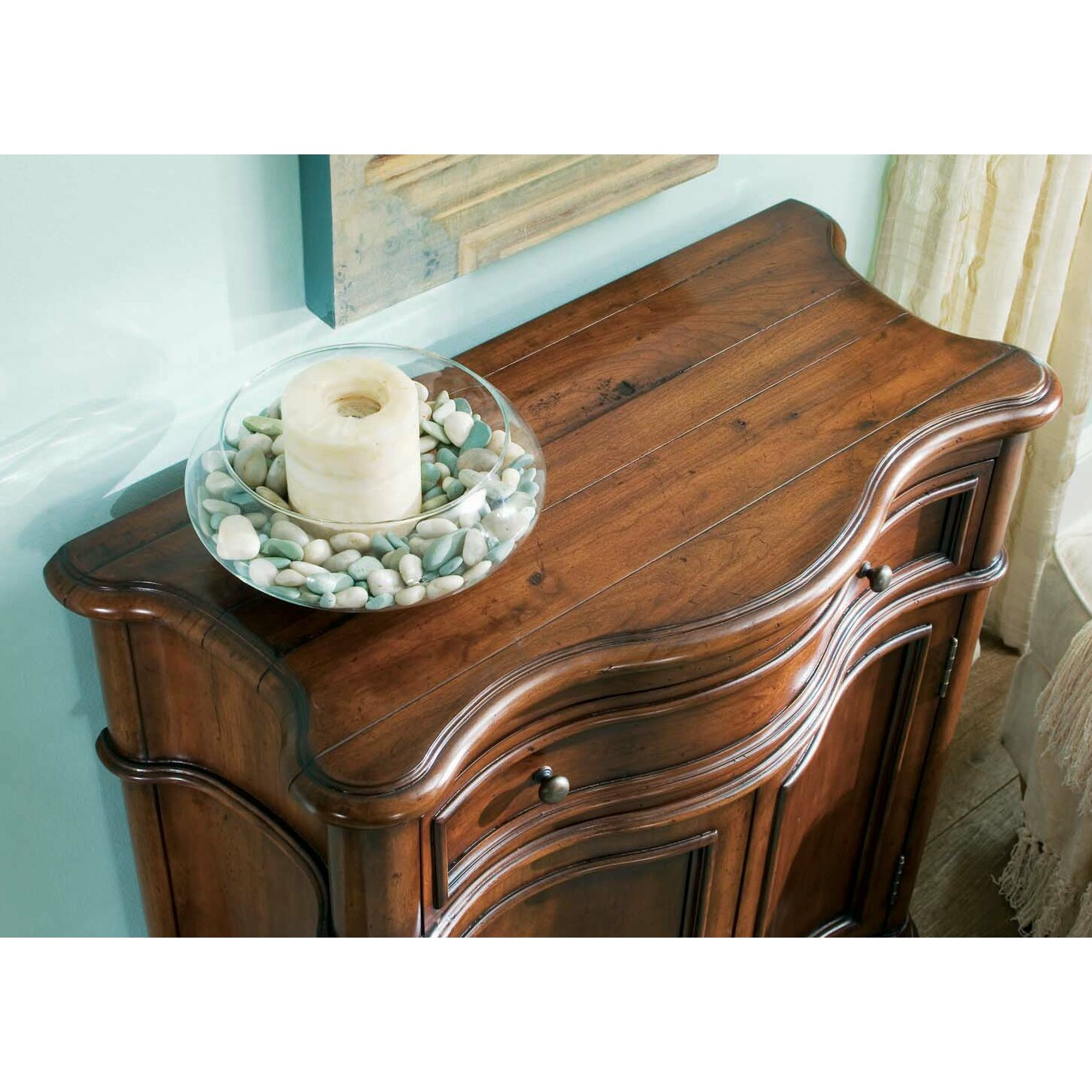 Hooker Furniture Waverly Place Shaped Hall Console Cabinet