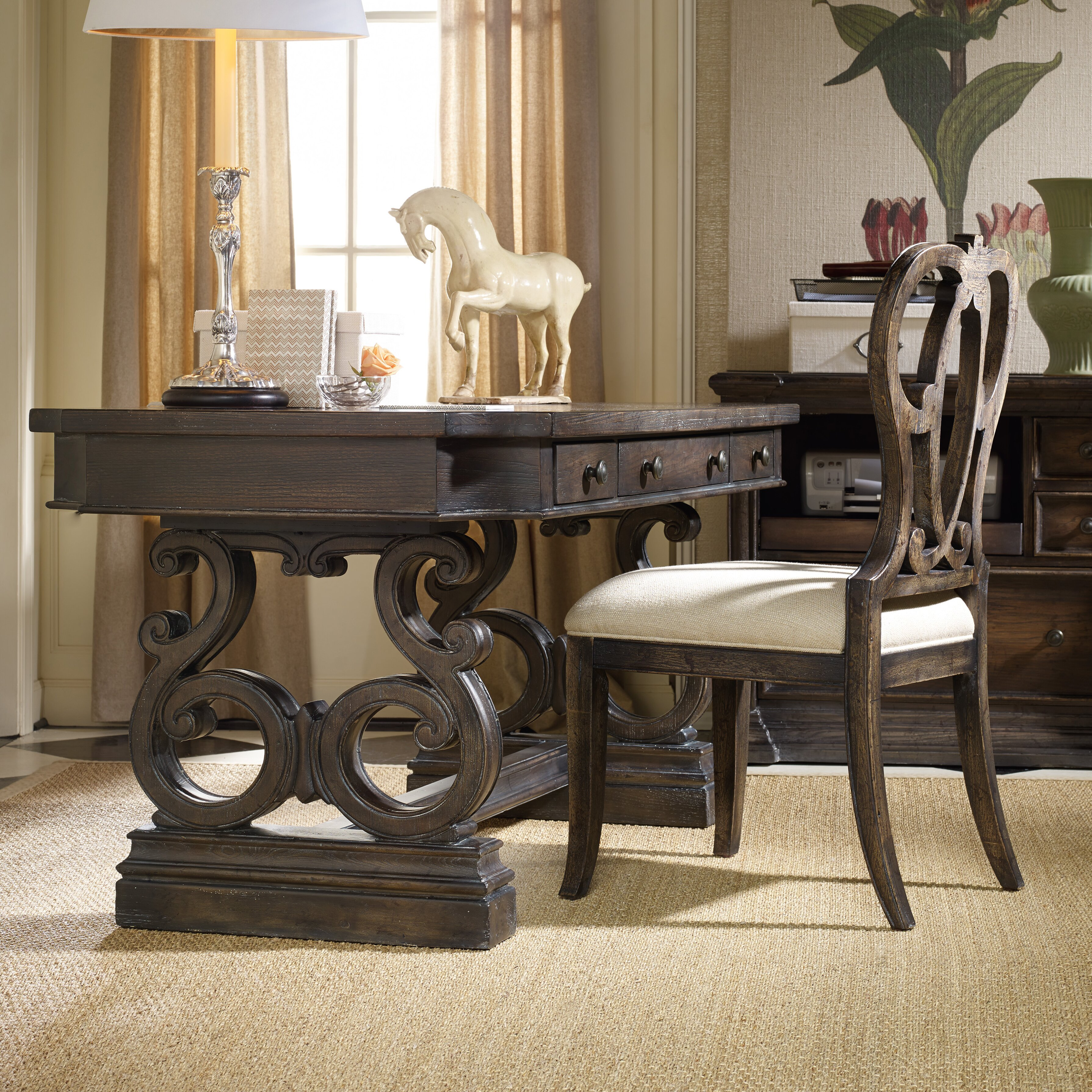 Hooker Furniture Davalle Computer Desk Office Suite Reviews Wayfair