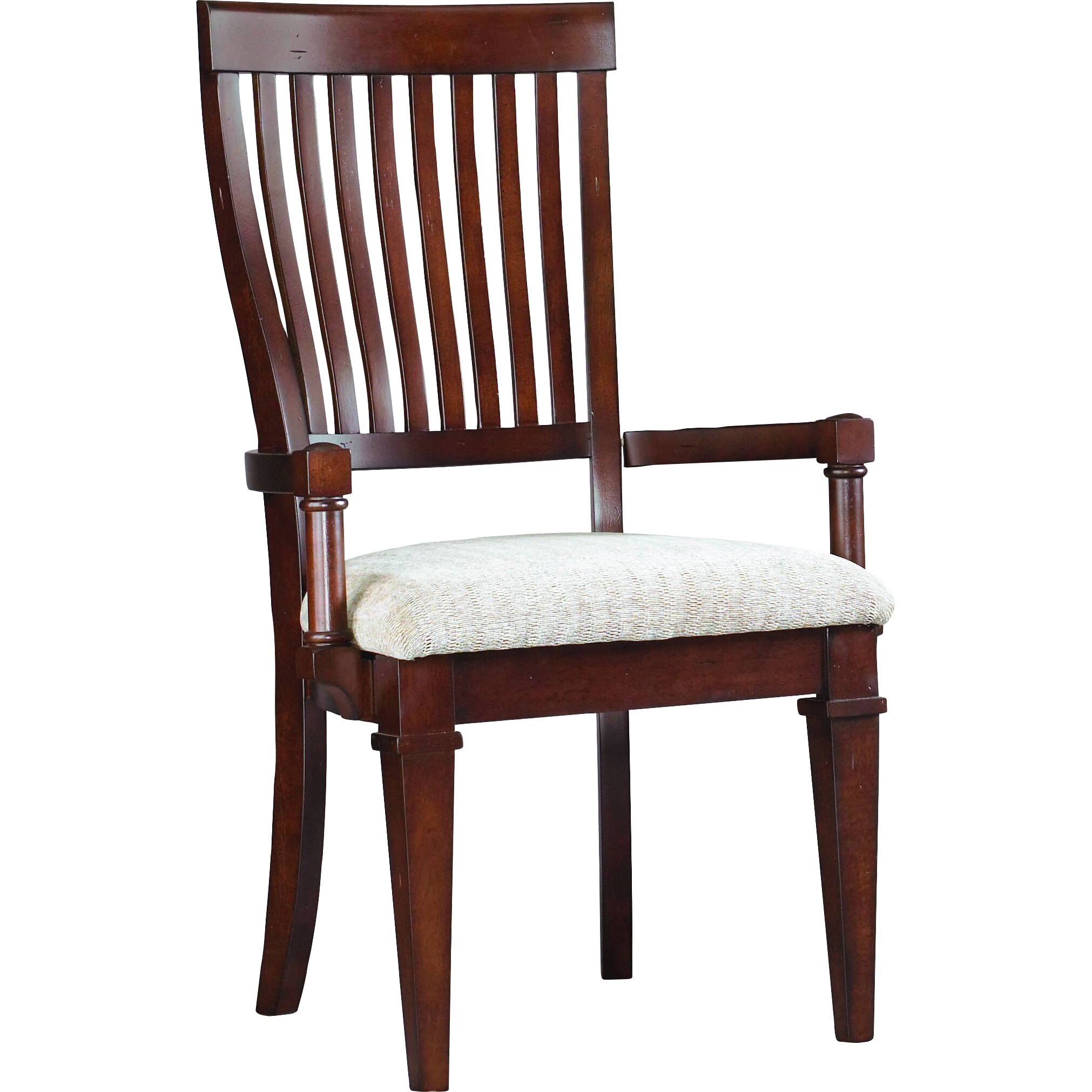 Hooker furniture abbott place slat back arm chair wayfair for Place furniture