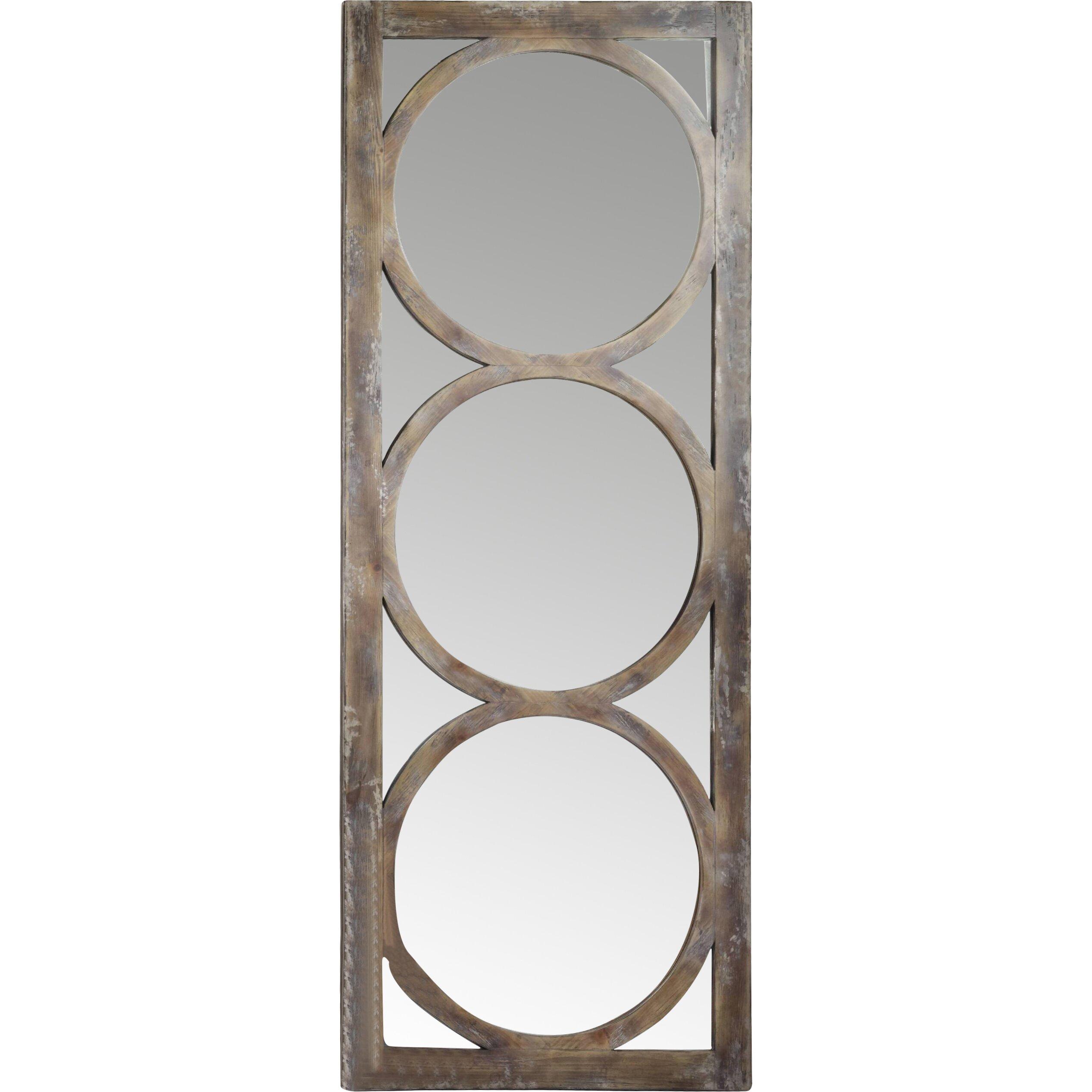 Hooker furniture melange encircle floor mirror reviews for Glass floor mirror