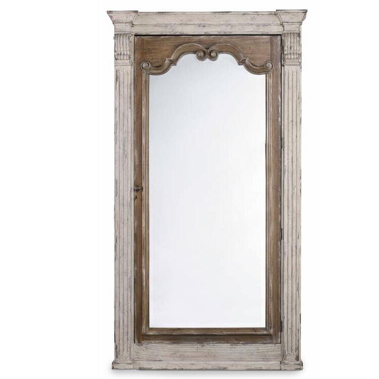 Hooker furniture chatelet floor mirror wayfair for Glass floor mirror