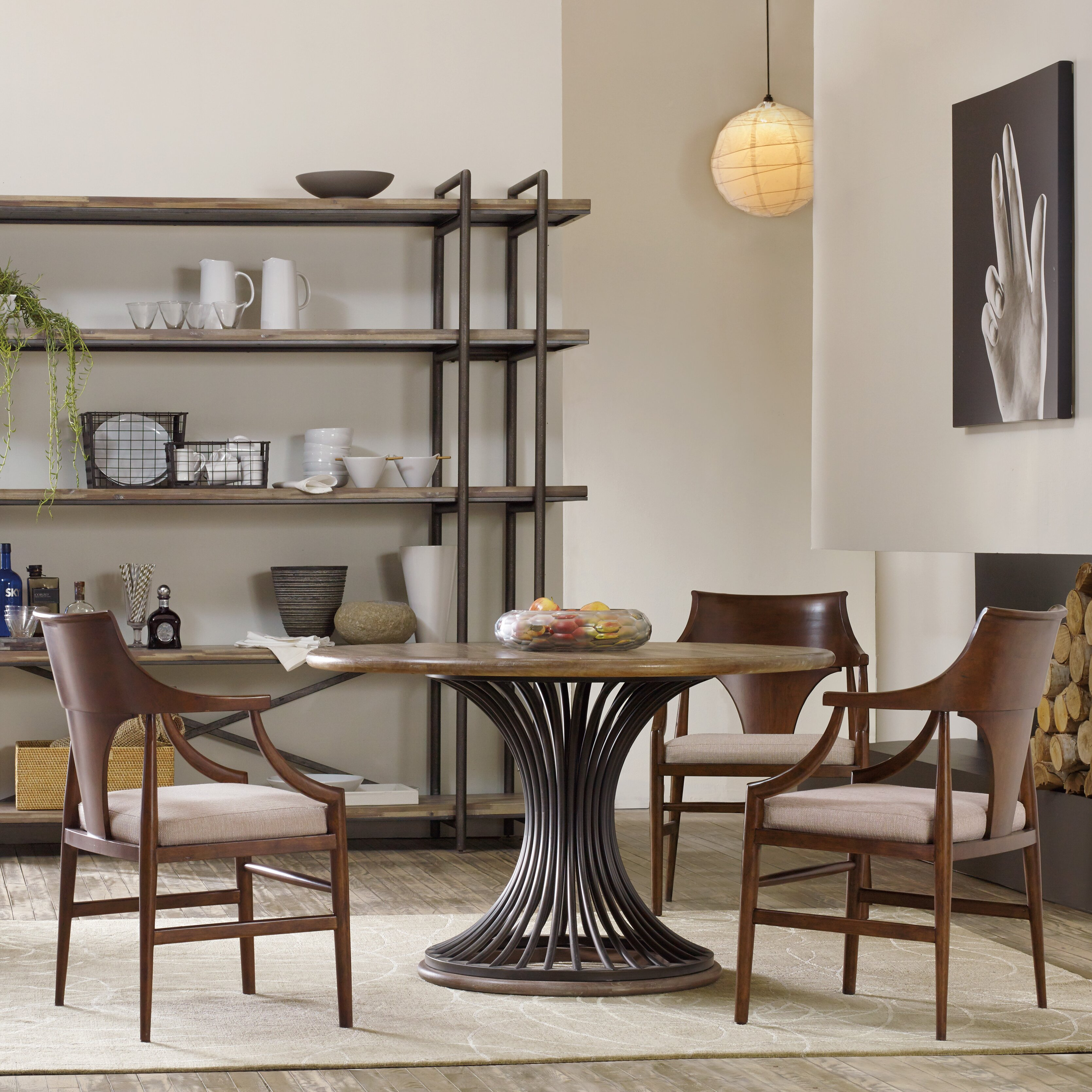Hooker furniture studio 7h dining table base wayfair for Studio furniture