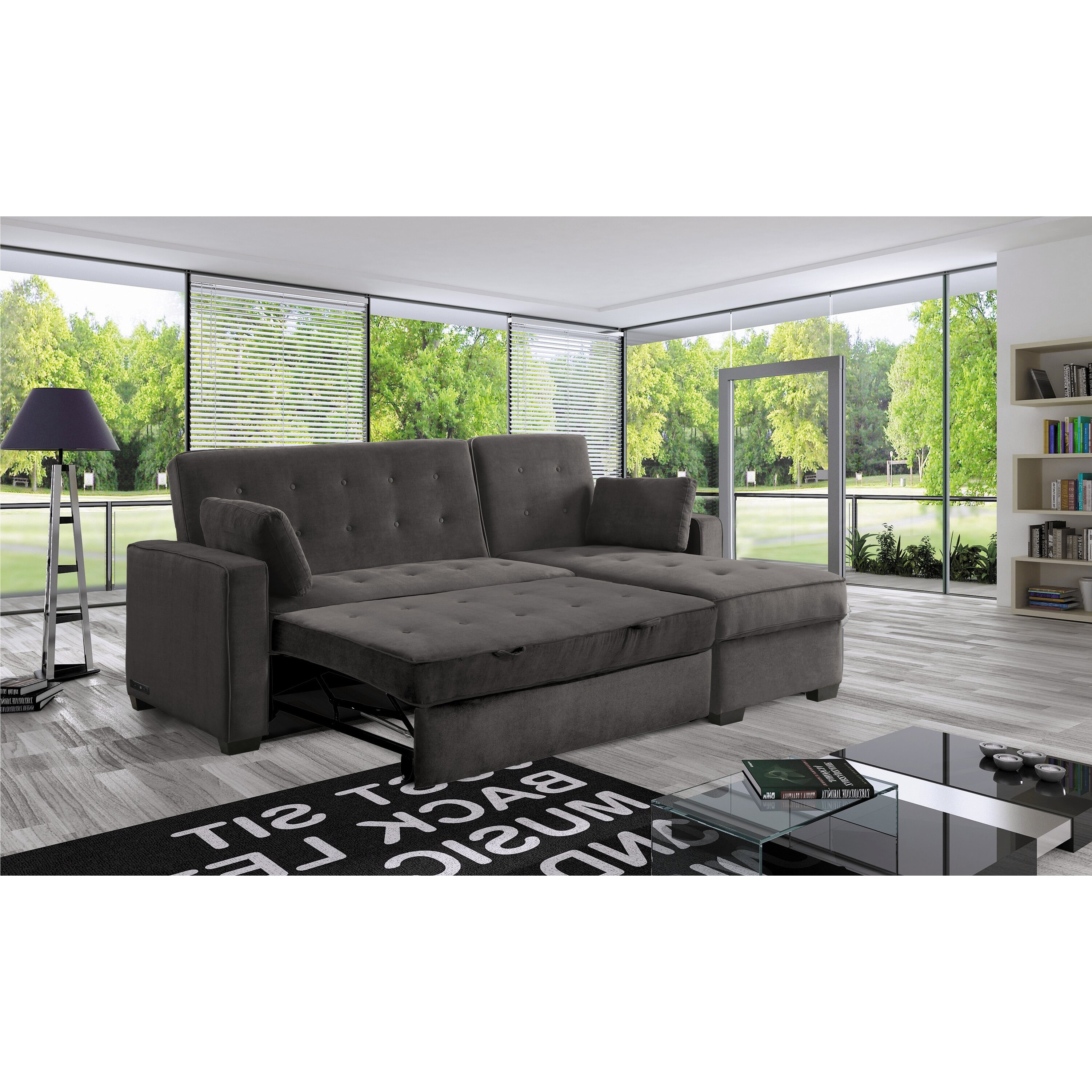 serta futons lancaster dream chaise sectional wayfair. Black Bedroom Furniture Sets. Home Design Ideas