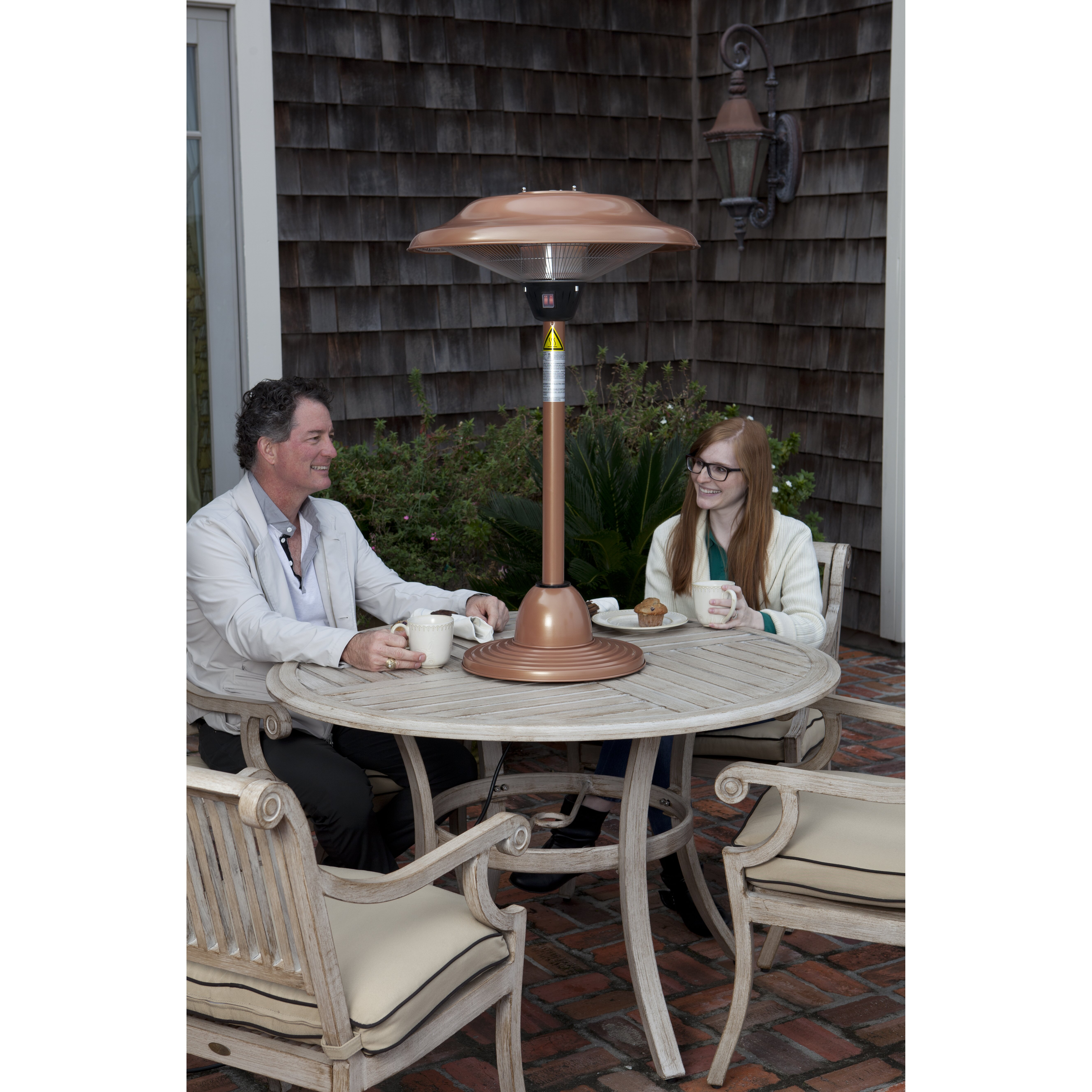 fire sense tabletop electric patio heater reviews