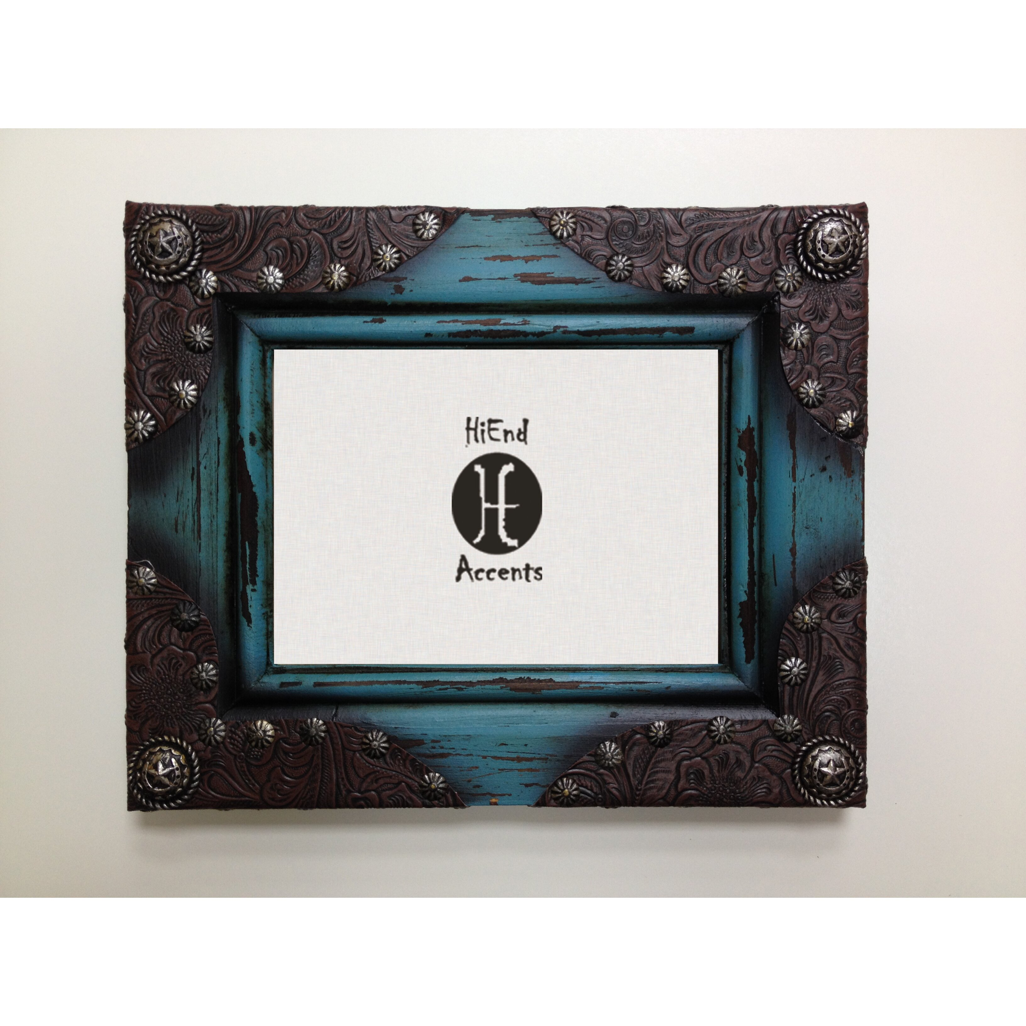 hiend accents 5 x 7 painted distressed wood picture frame reviews wayfair. Black Bedroom Furniture Sets. Home Design Ideas