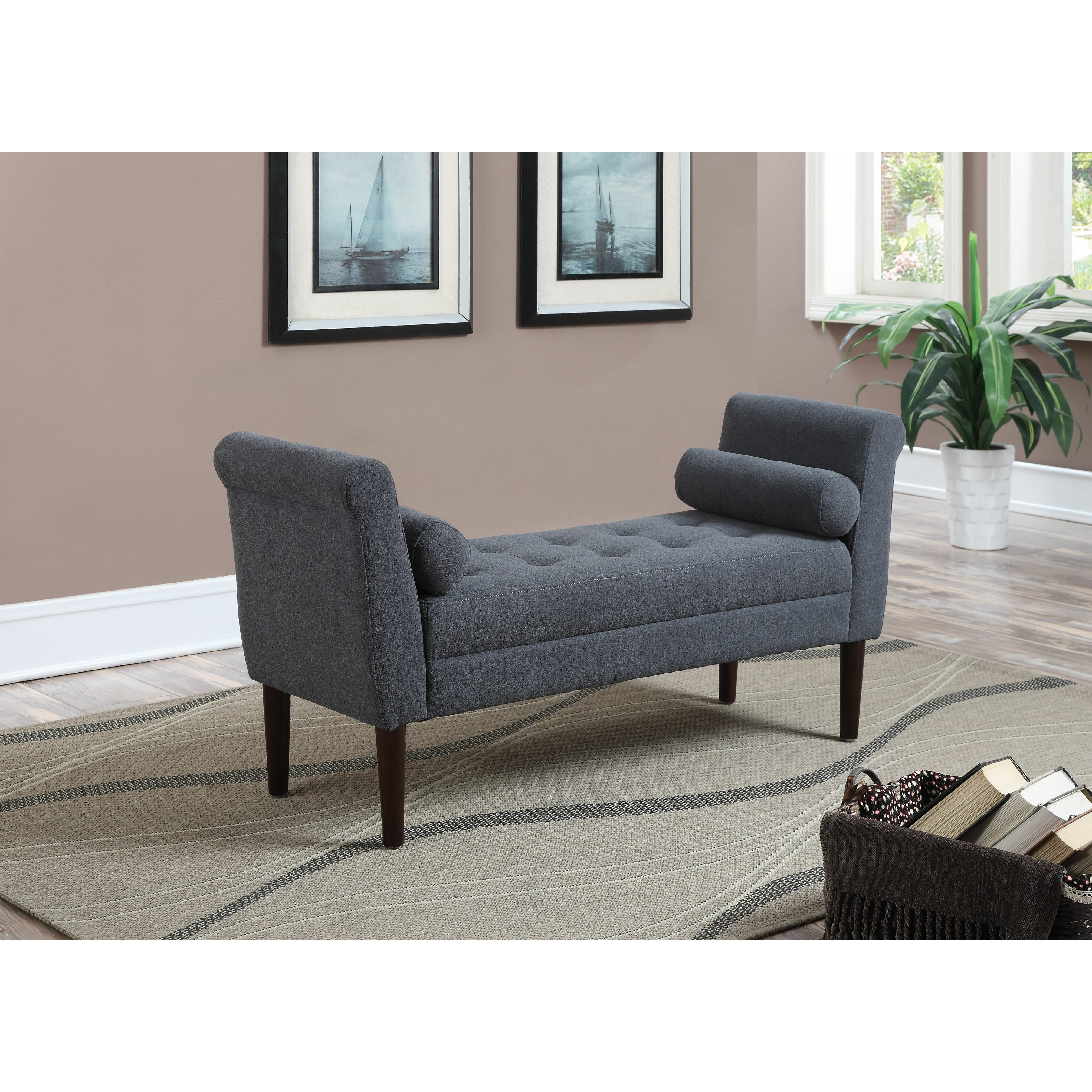 Upholstered Bedroom Bench: AC Pacific Betty Upholstered Bedroom Bench & Reviews