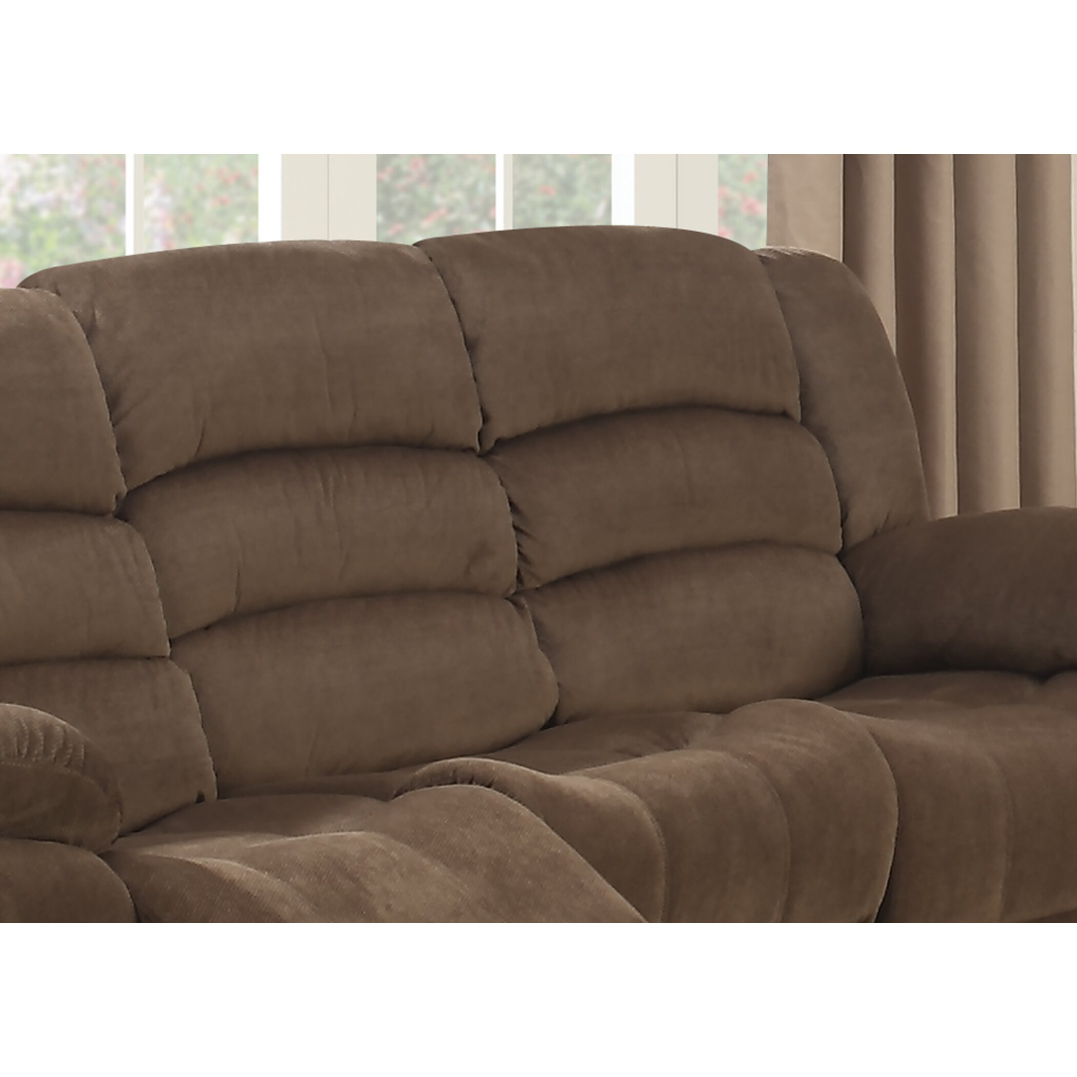 Ac Pacific Bill Reclining Living Room Sofa And Loveseat Set Wayfair