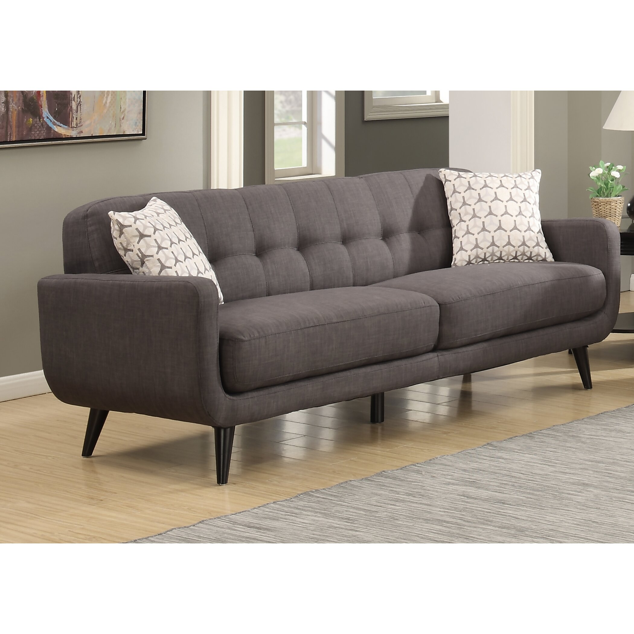 Living Room Ideas 2015 Top 5 Mid Century Modern Sofa: AC Pacific Crystal Mid-Century Sofa