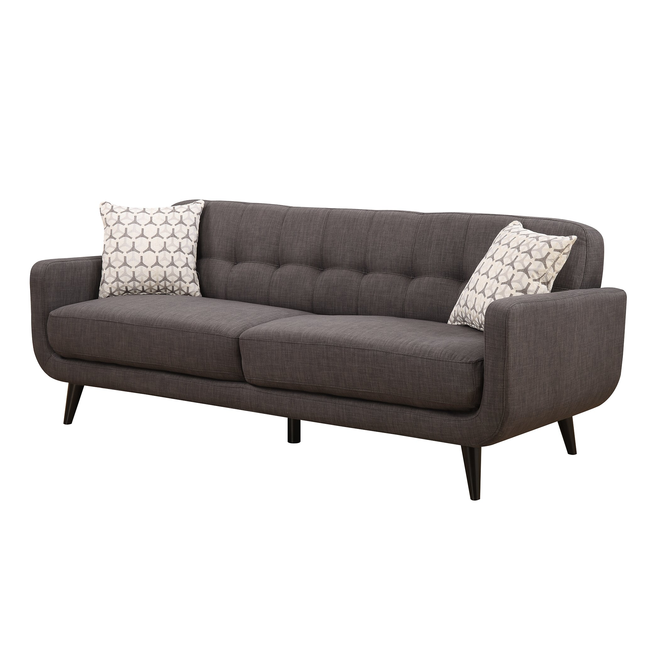 Ac pacific crystal mid century sofa for Modern sofa chair